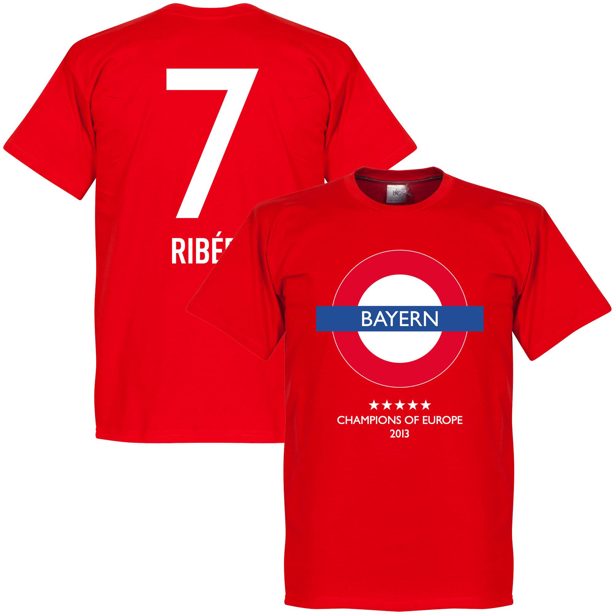 Bayern Undergrougnd Tee + Ribéry 7 - Red - L