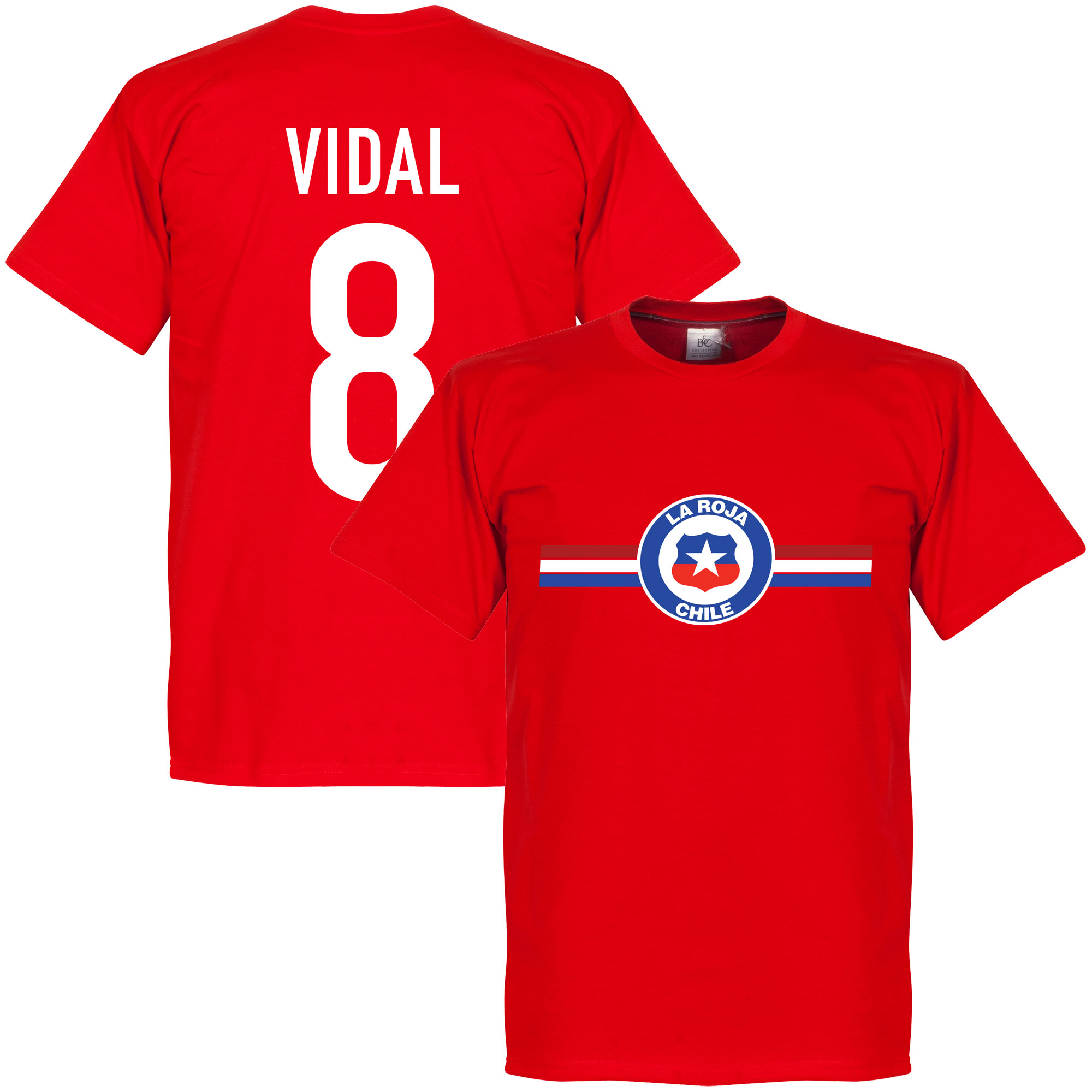 Chile Vidal Tee - Red - XXL