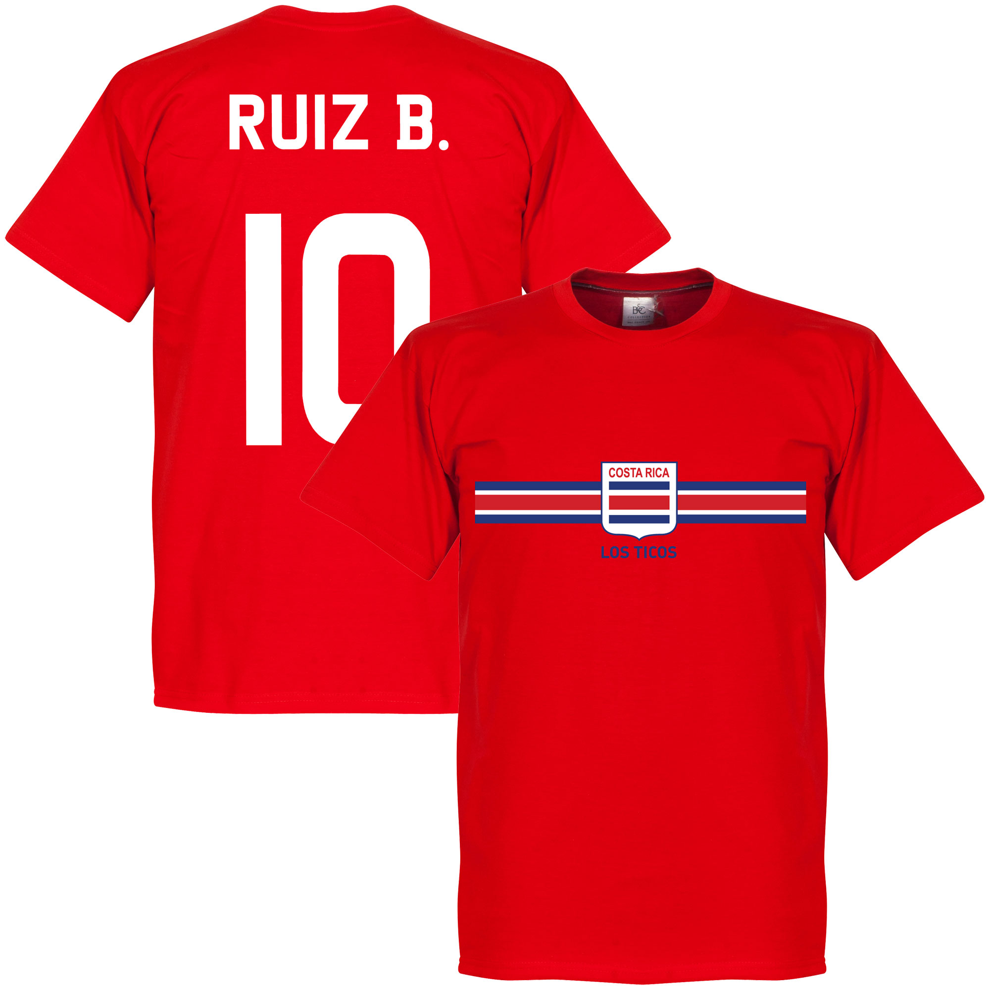 Costa Rica Ruiz B. Team Tee - Red - XS