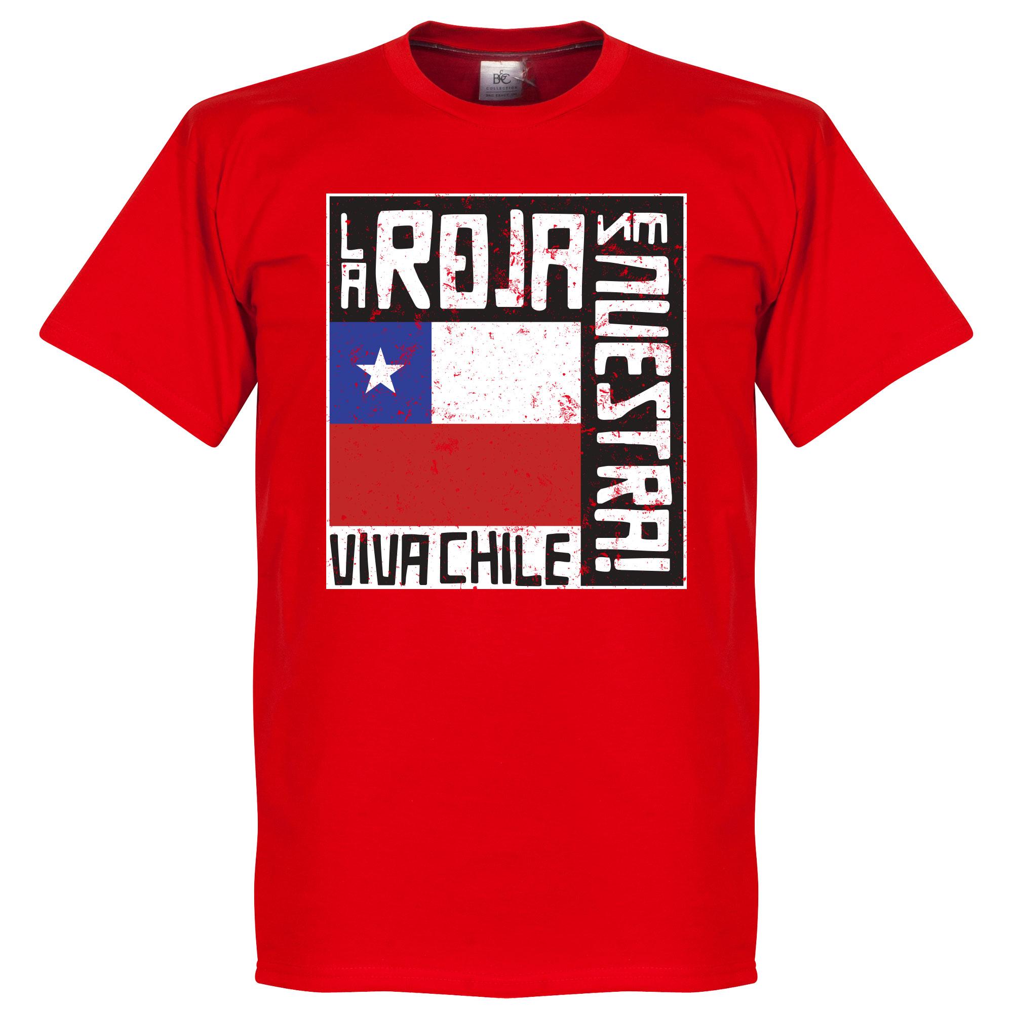 Chile La Roja Es Nuestra Tee - Red - XXXL