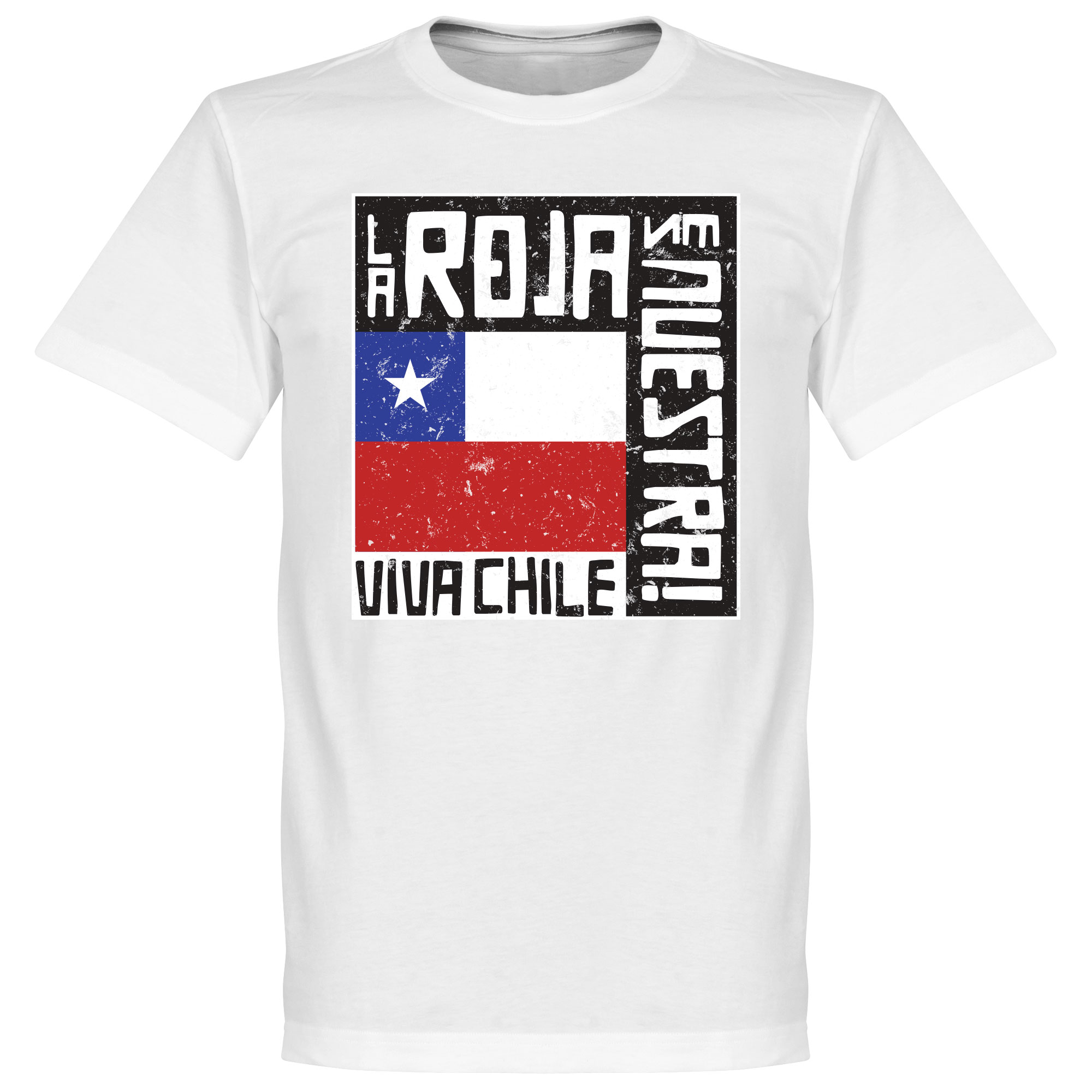 Chile Le Roja Es Nuestra Tee - White - XS