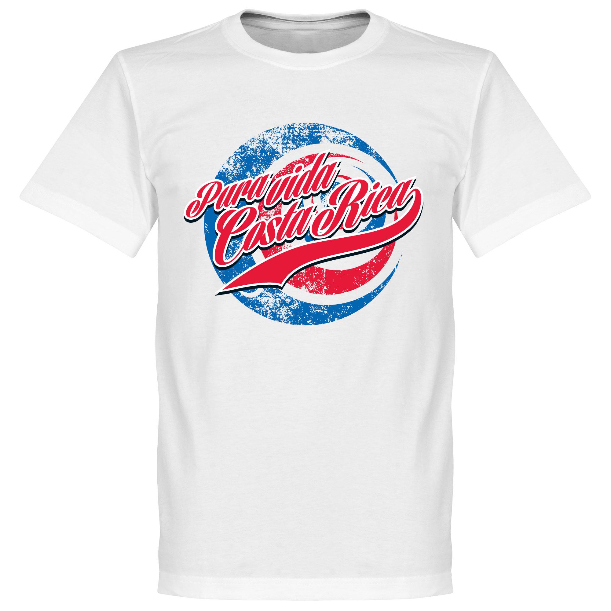 Pura Vida Costa Rica T-shirt - White - XXXXL