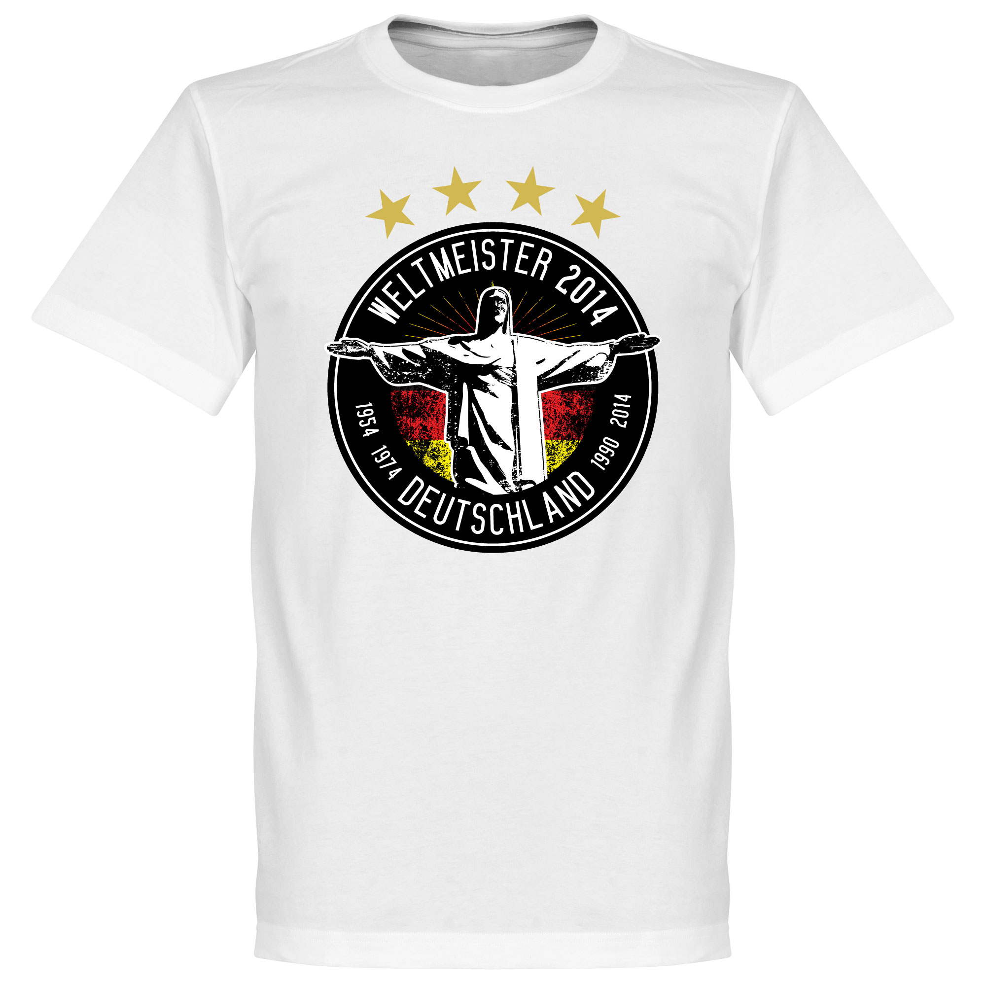 Germany 2014 World Cup Winners Tee - White - M