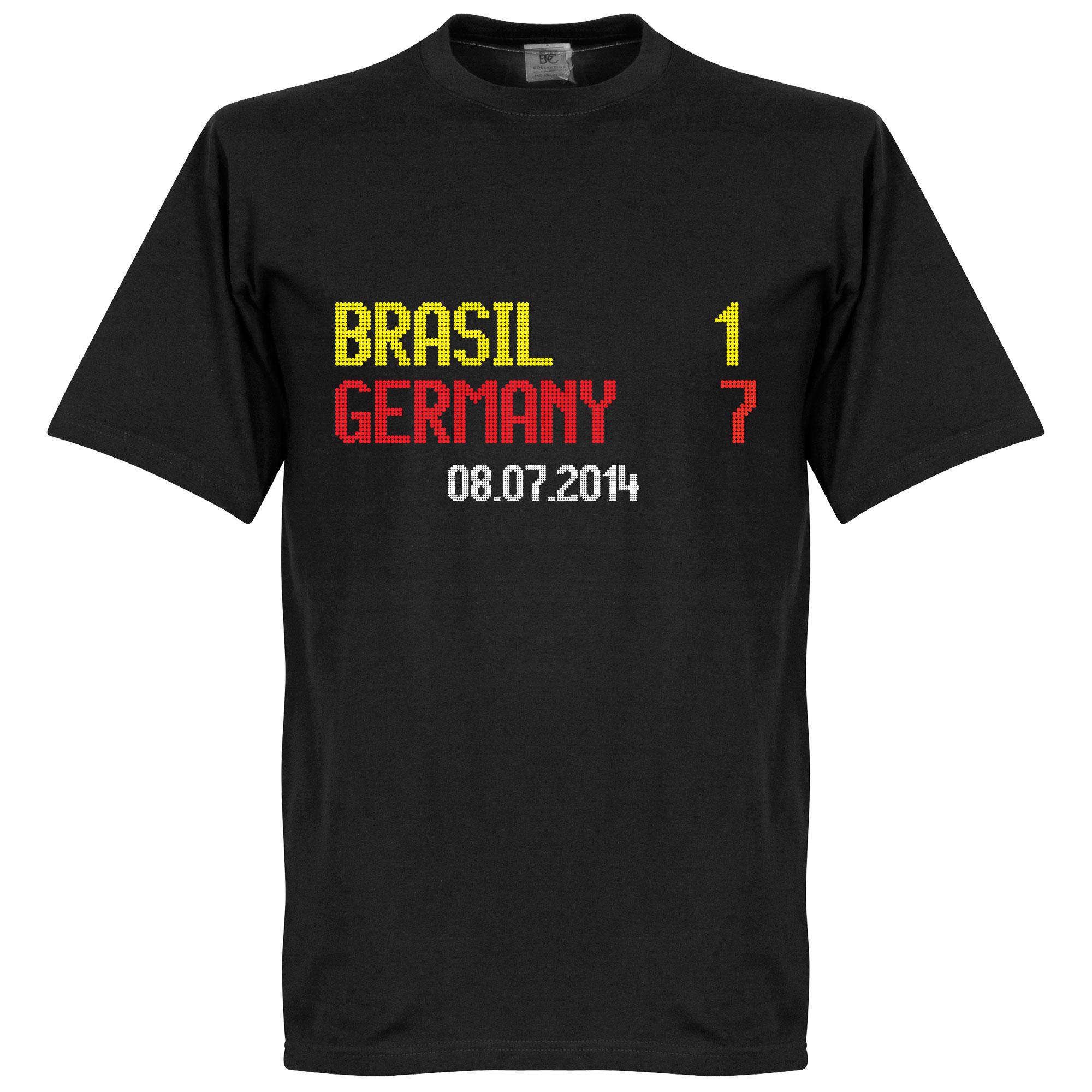 Brasil 1 : Germany 7 Scoreboard Tee - Black - XXL