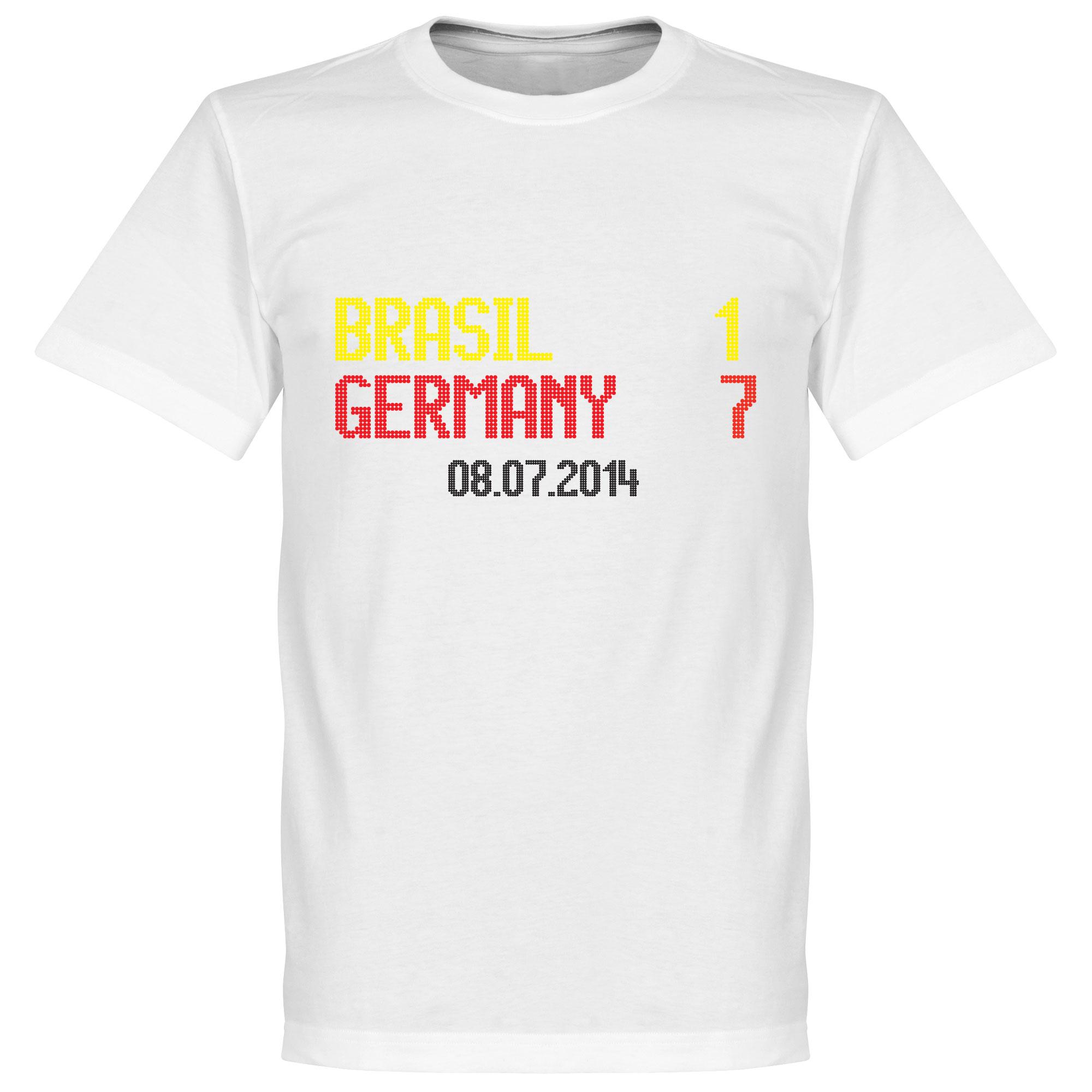 Brasil 1 : Germany 7 Scoreboard Tee - White - XL