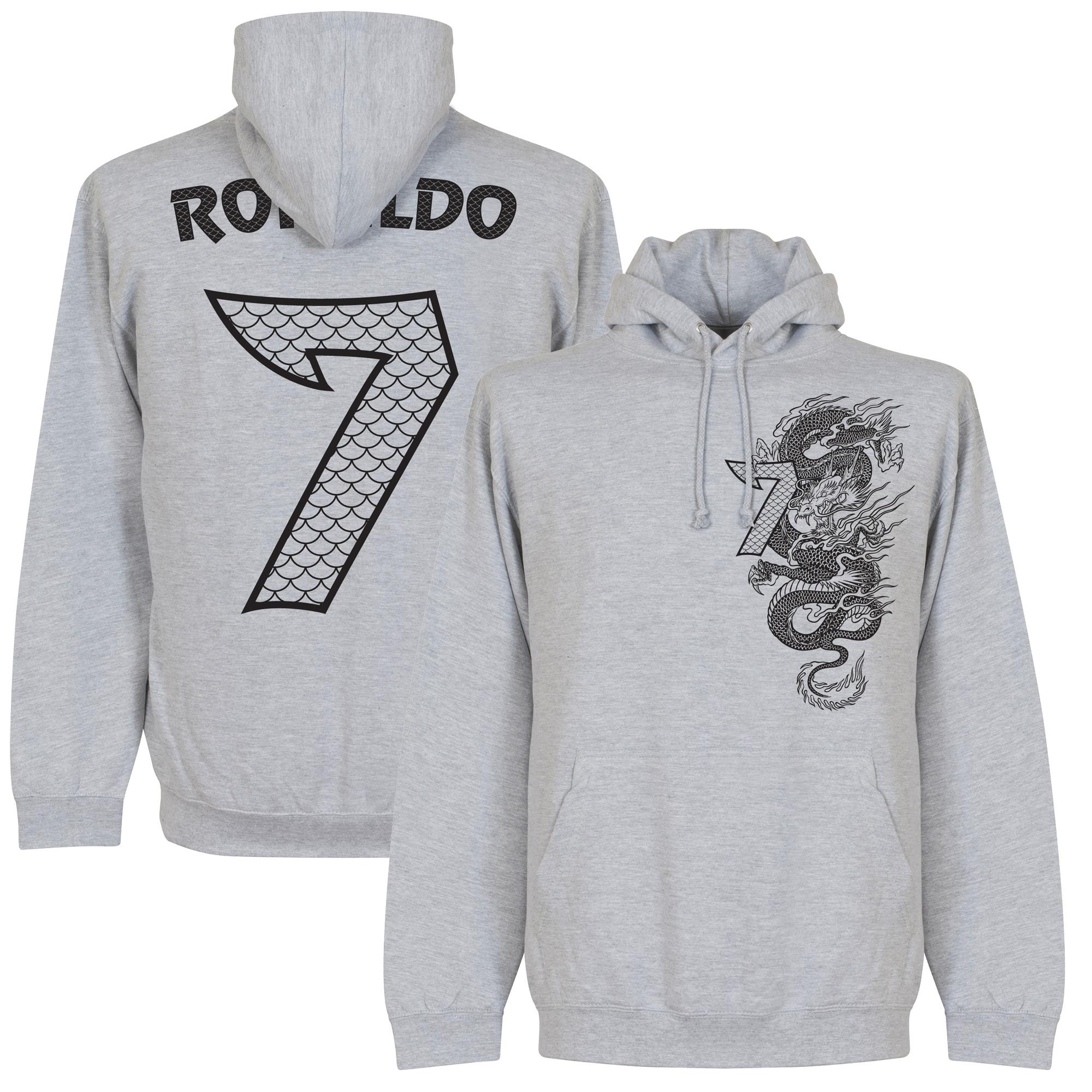 Real Dragon Ronaldo No.7 Hoodie - Grey - S