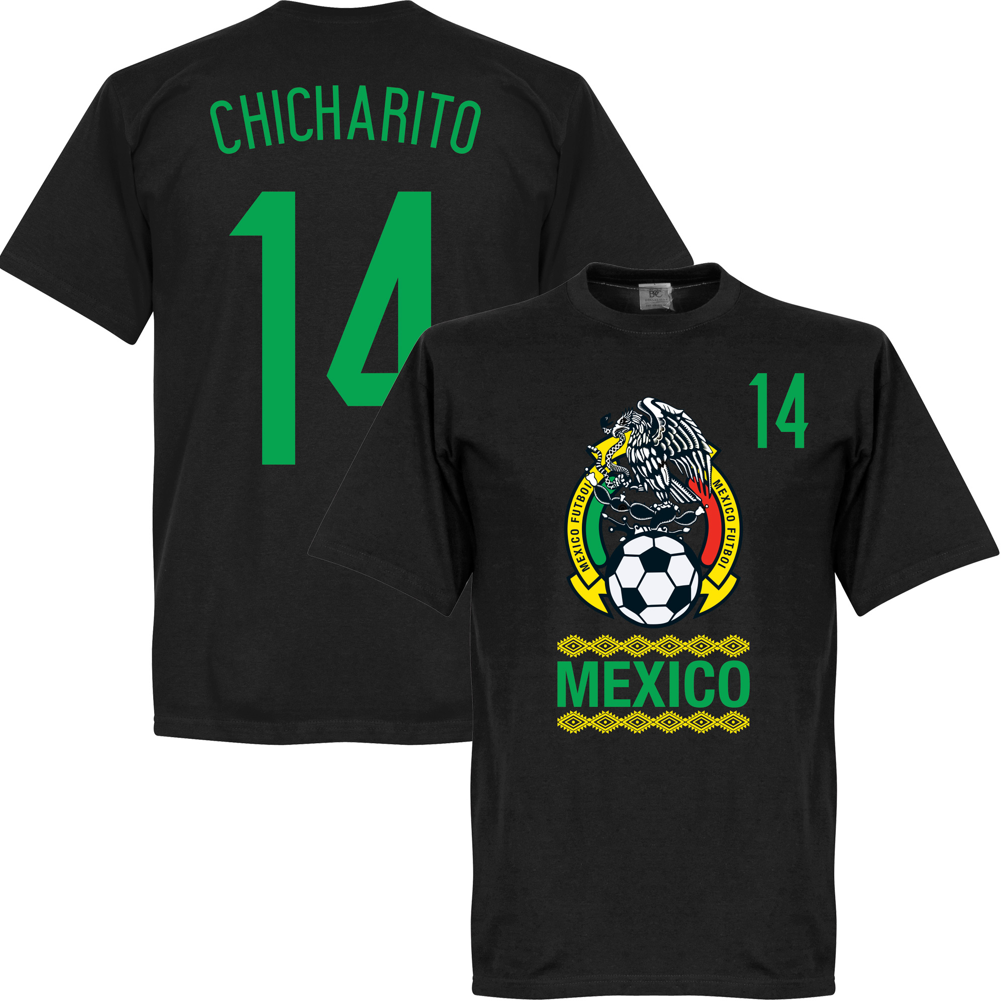 Mexico Crest Chicharito Tee - Black - XS