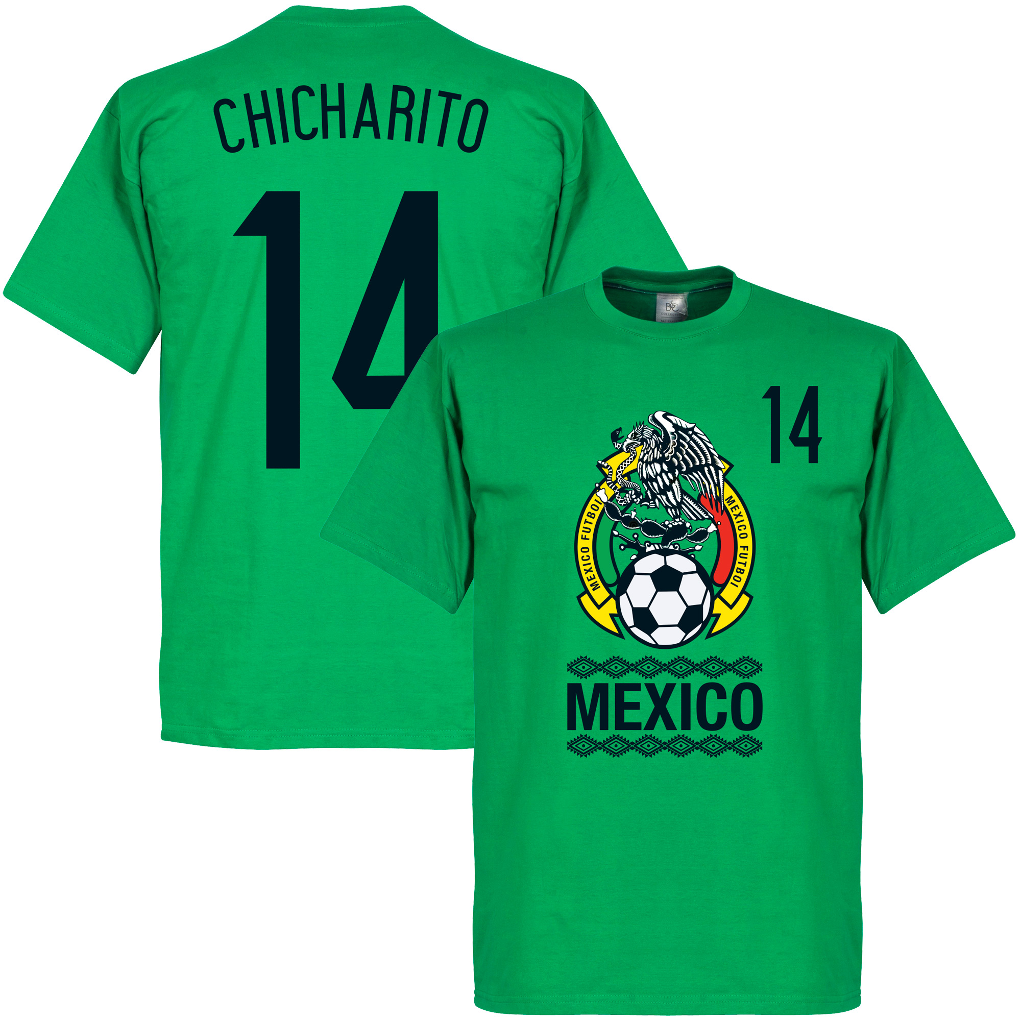 Mexico Crest Chicharito KIDS Tee - Green - 10