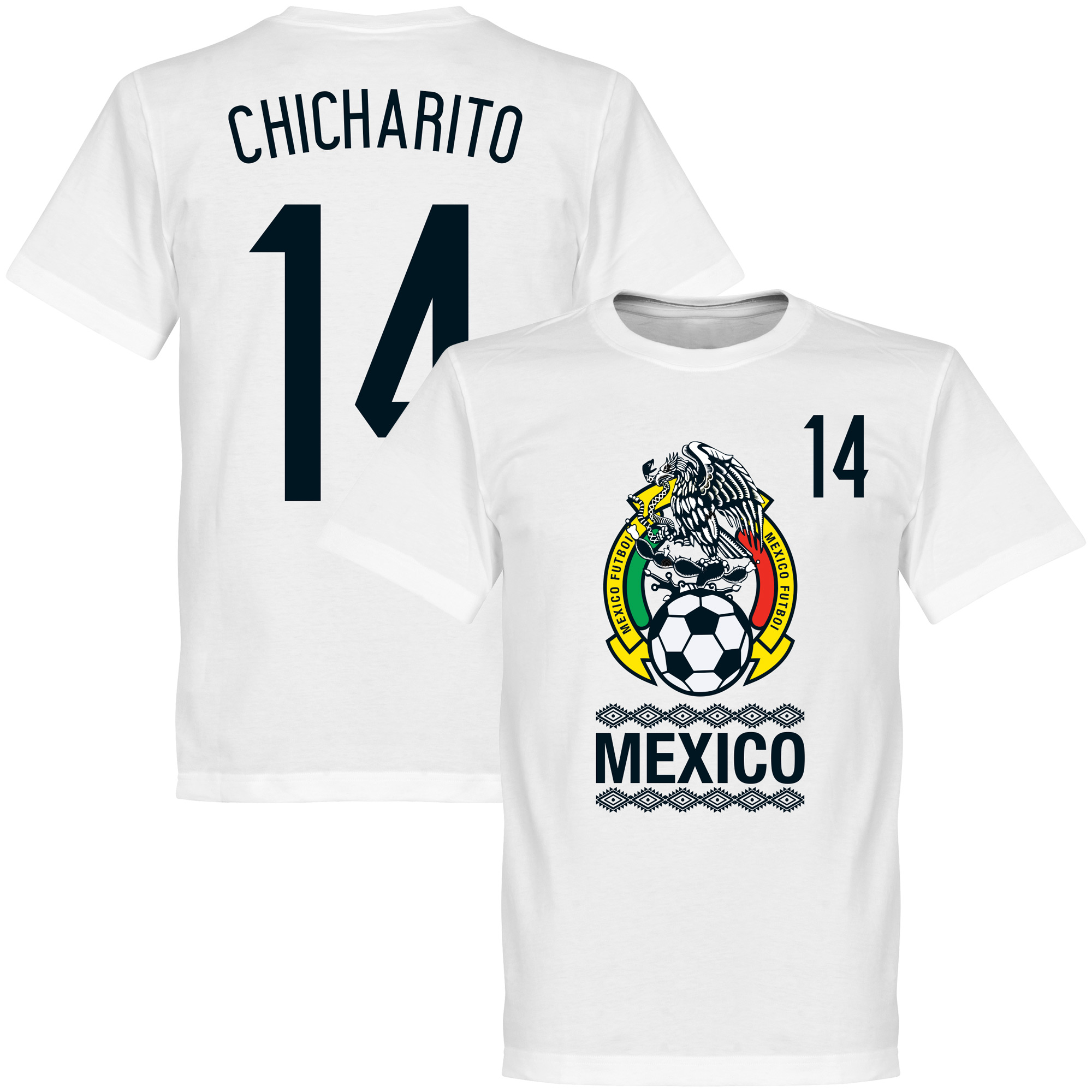 Mexico Crest Chicharito Tee - White - XXXXL