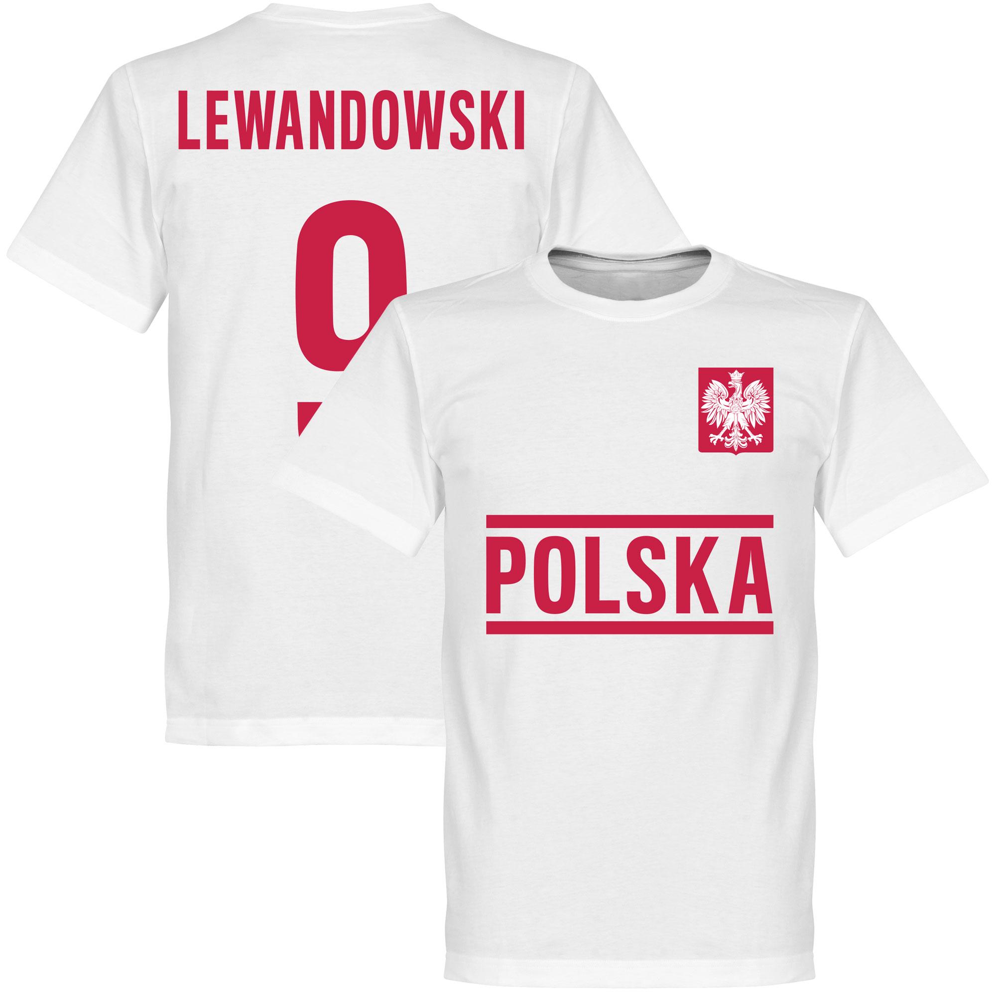 Poland Lewandowski Team Tee - White - XXXL