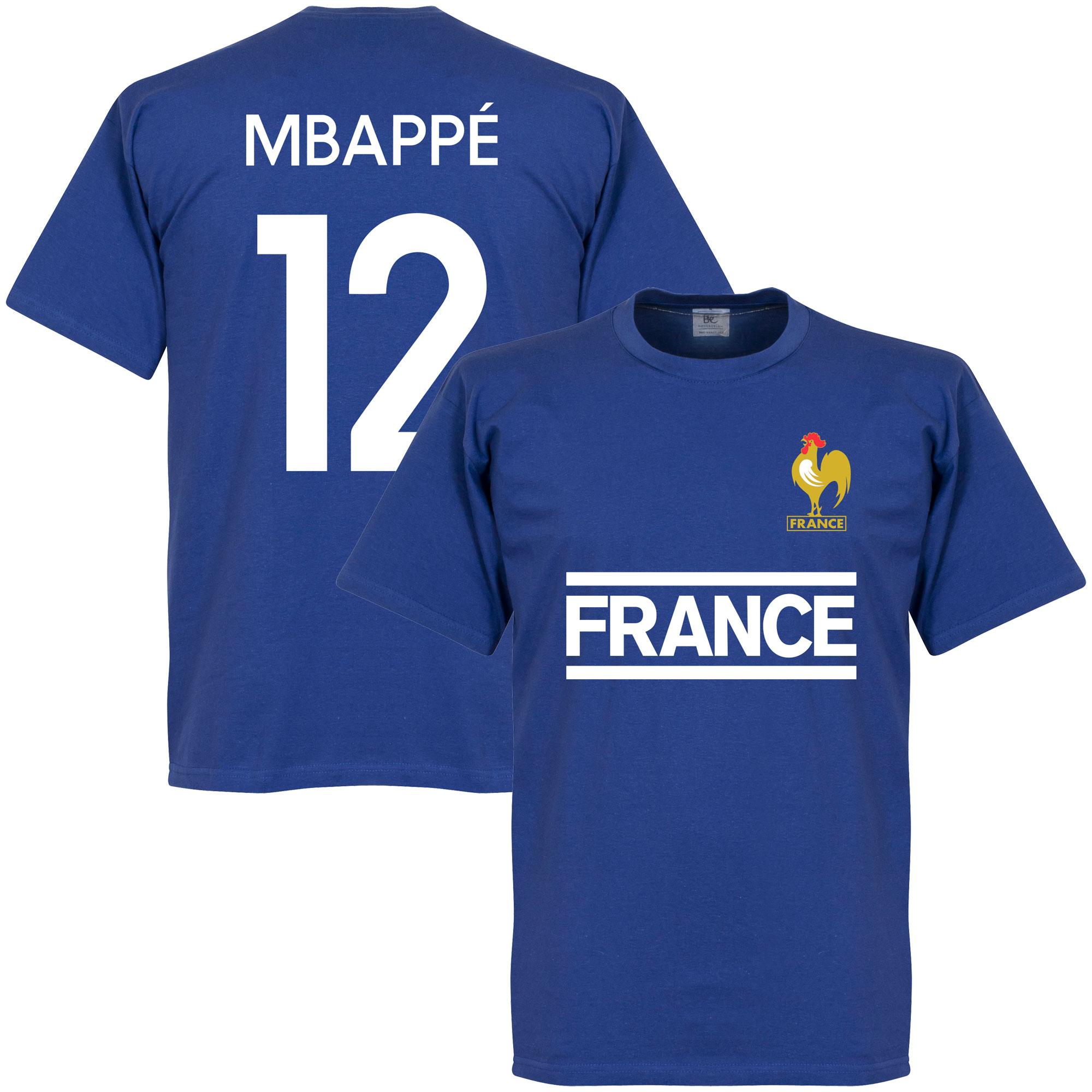 France Mbappe Team Tee - Royal - S