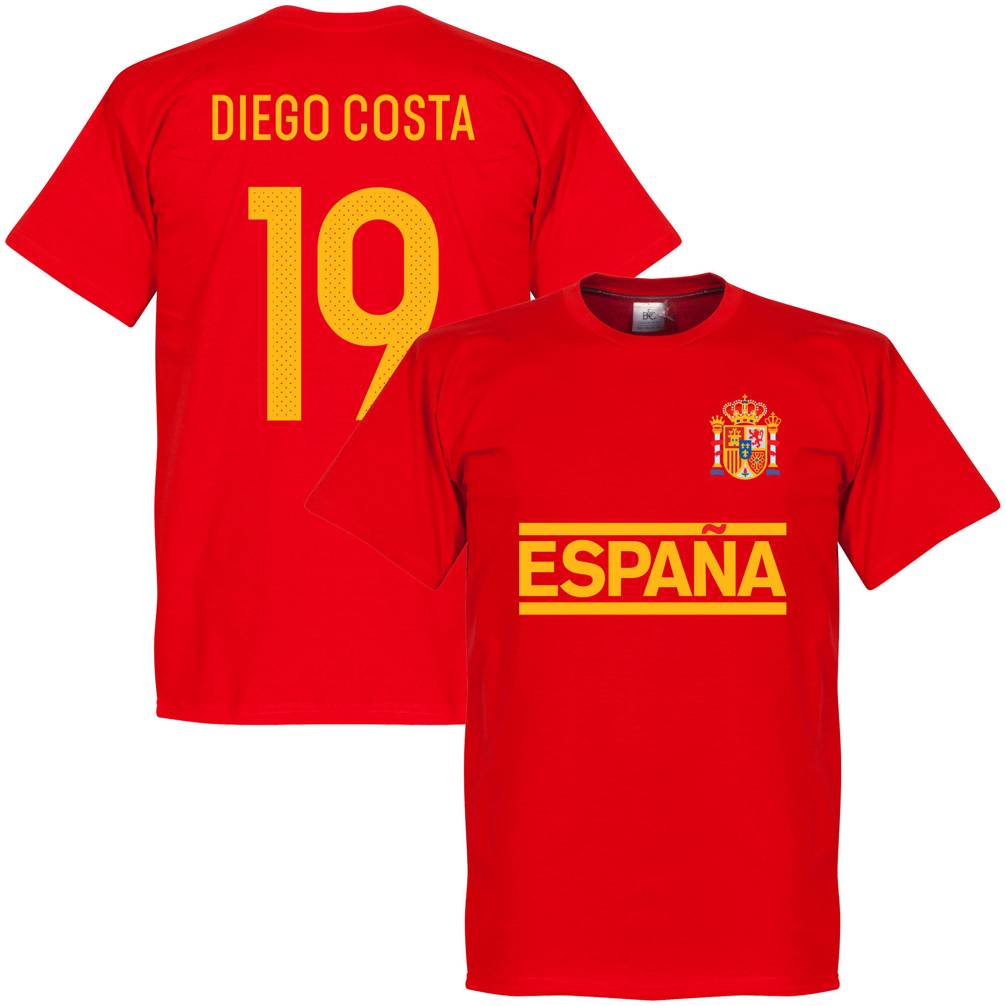 Spain Diego Costa Team Tee - Red - XS