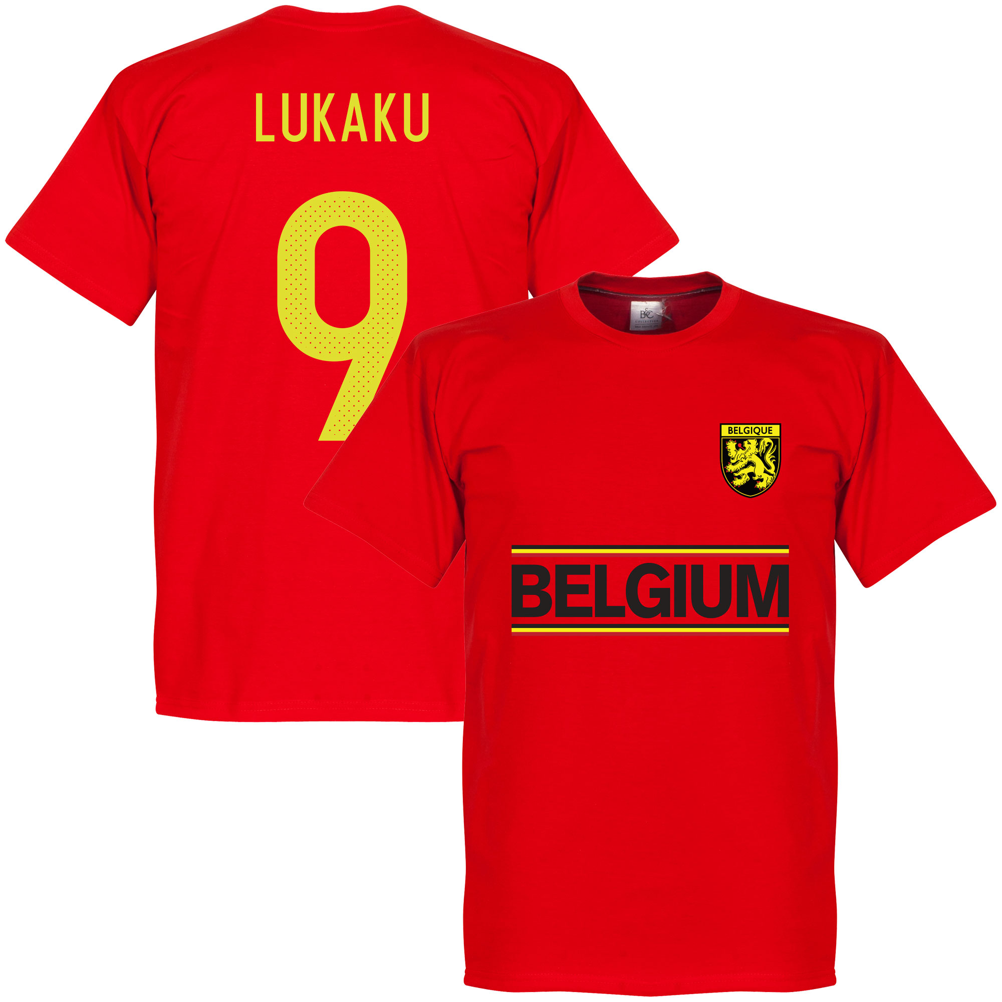 Belgium Lukaku Team Tee - Red - XXXL