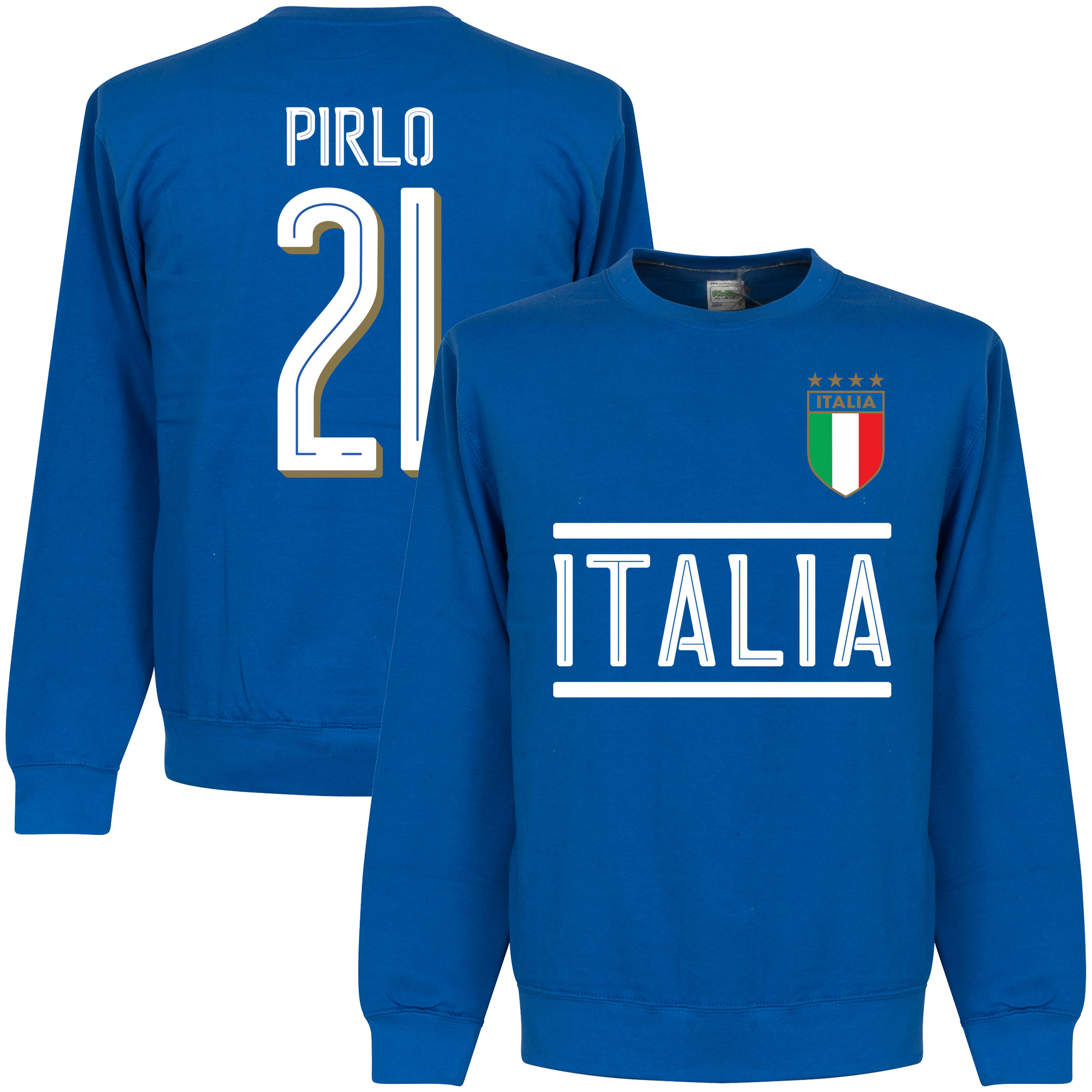 Italy Pirlo Team Sweatshirt - Royal - XXXL