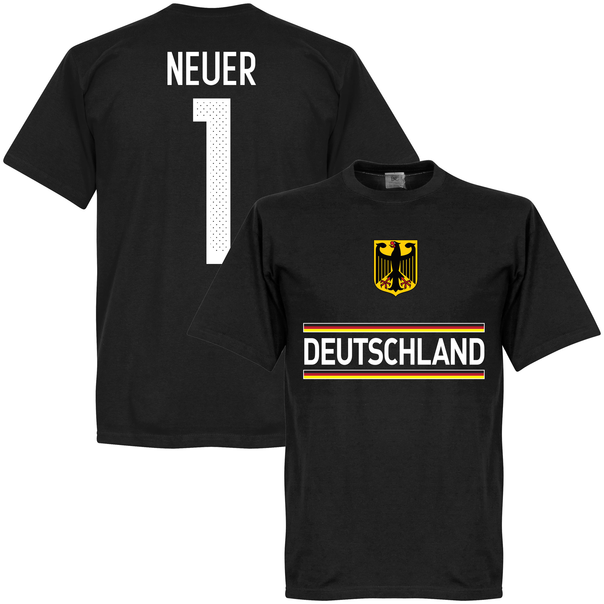 Germany Neuer Team Tee - Black - XS