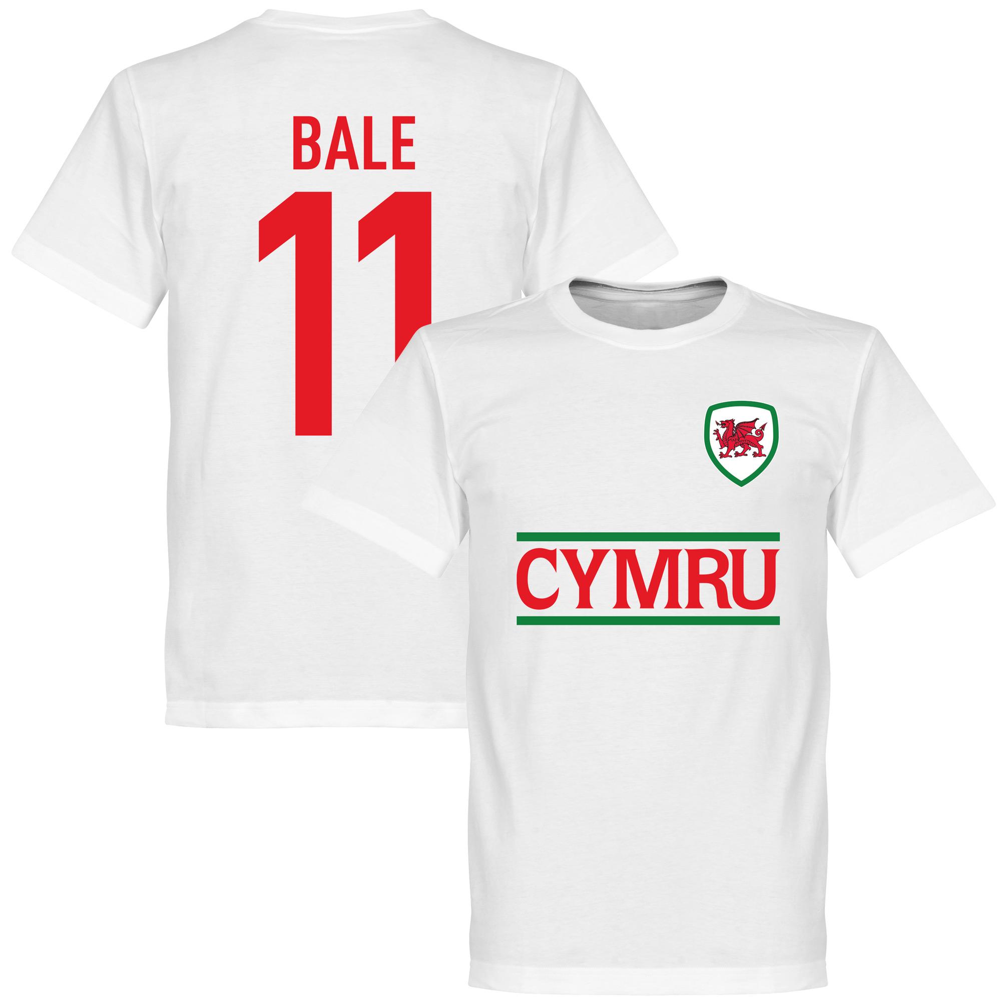 Cymru Bale Team Tee - White - L
