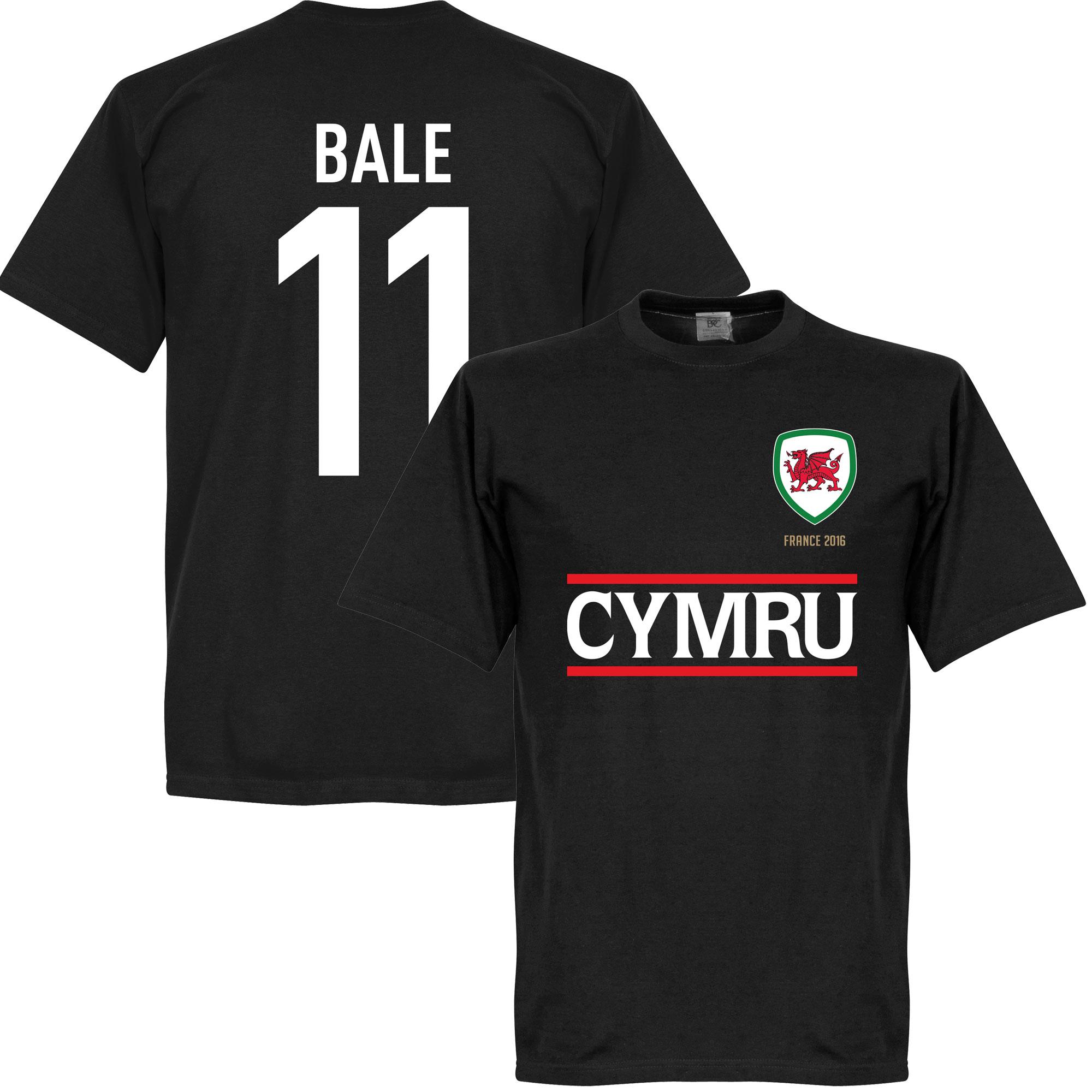 Cymru Bale Team Tee - Black - M