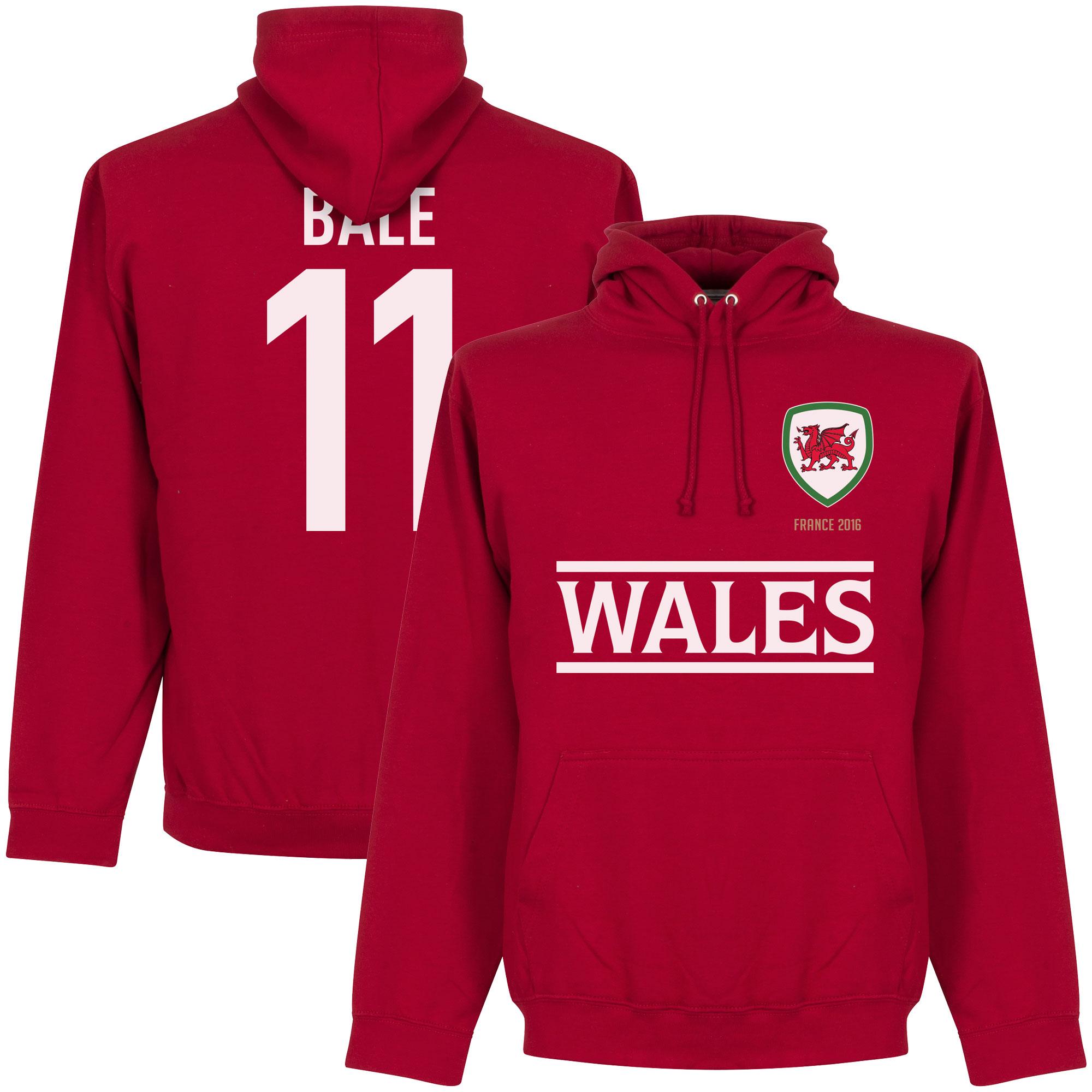 Wales Bale Team Hoodie - Red - S