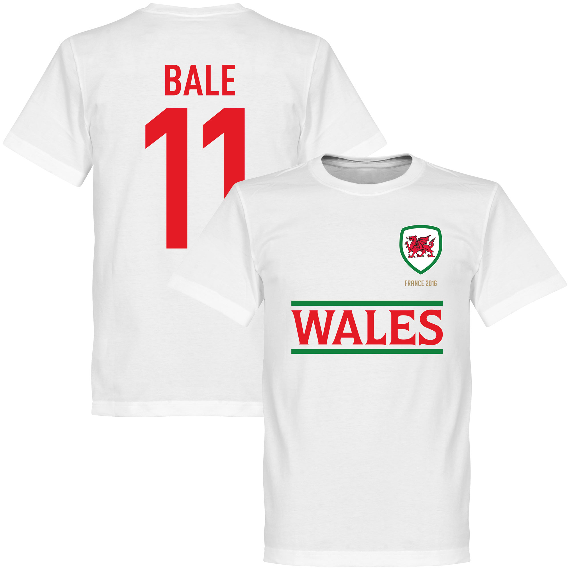 Wales Bale Kids Team Tee - White - 12
