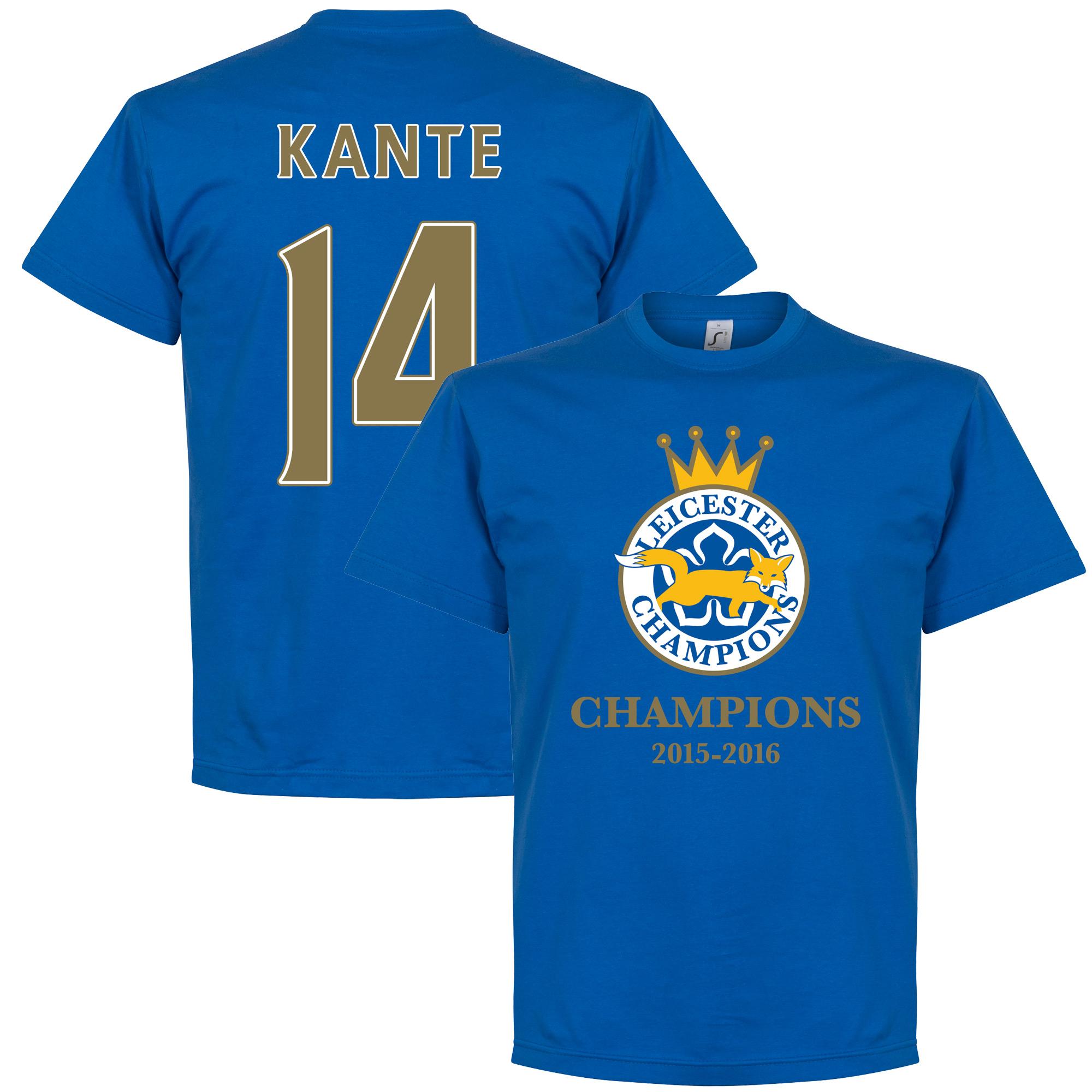Leicester Champions Kante Tee - Royal - XXXXL