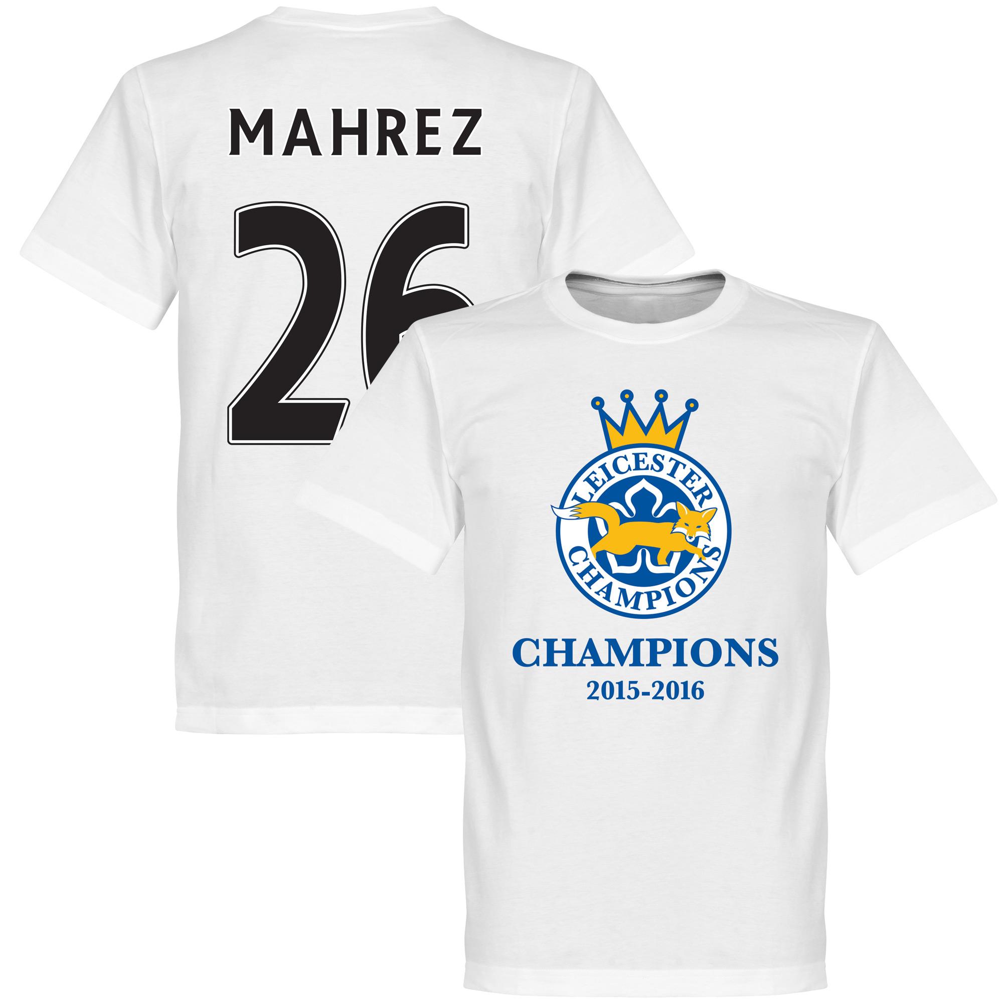 Leicester Champions Mahrez Tee - White - XXXXL