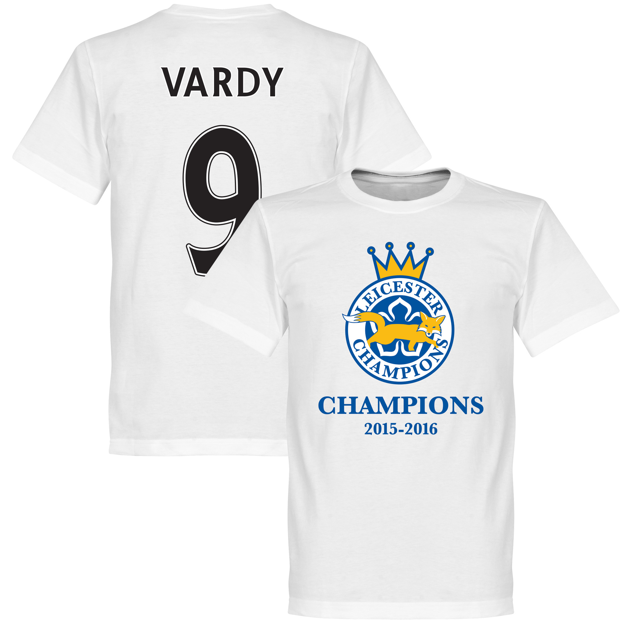 Leicester Champions Vardy Tee - White - L