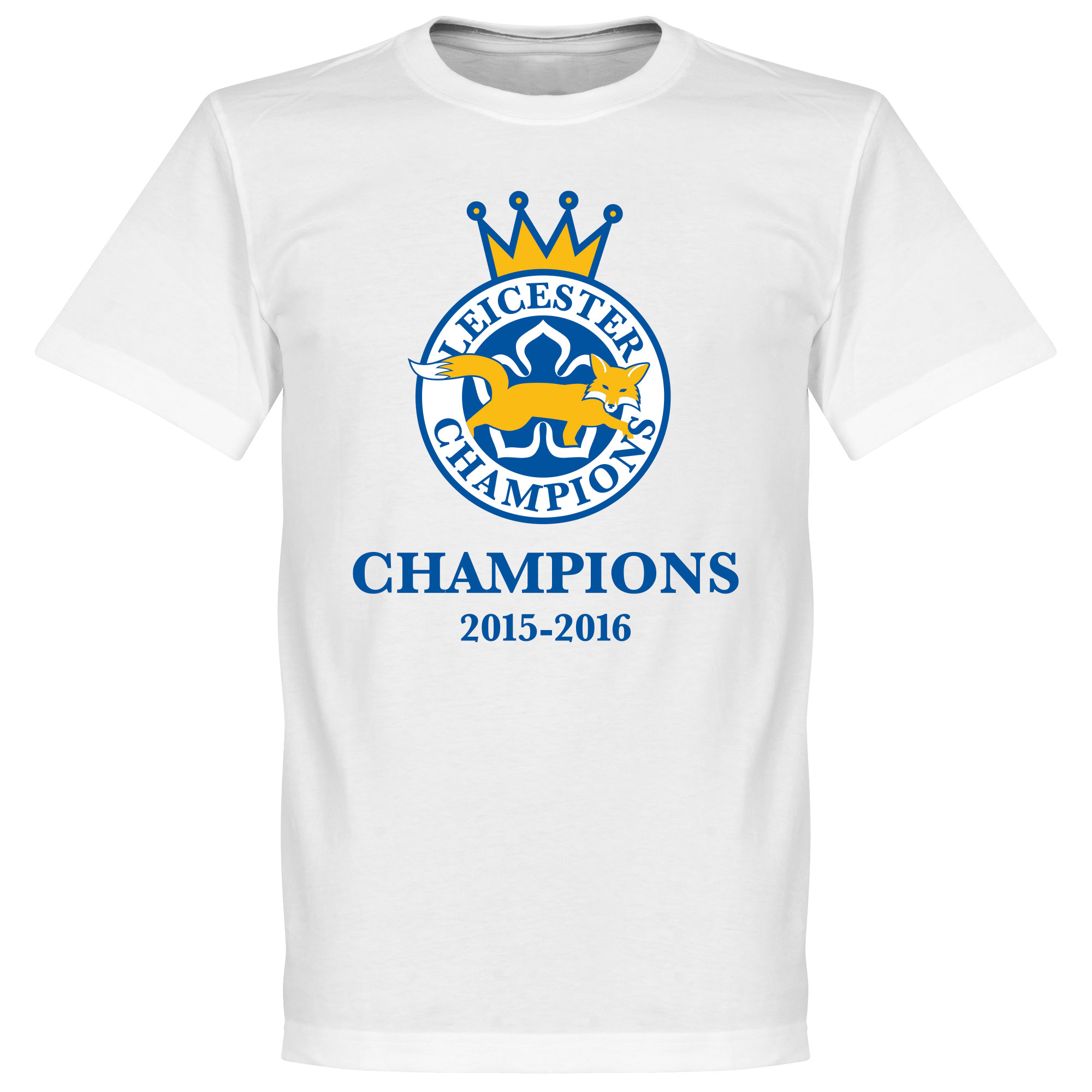 Leicester Foxes Champions 2016 Tee - White - M