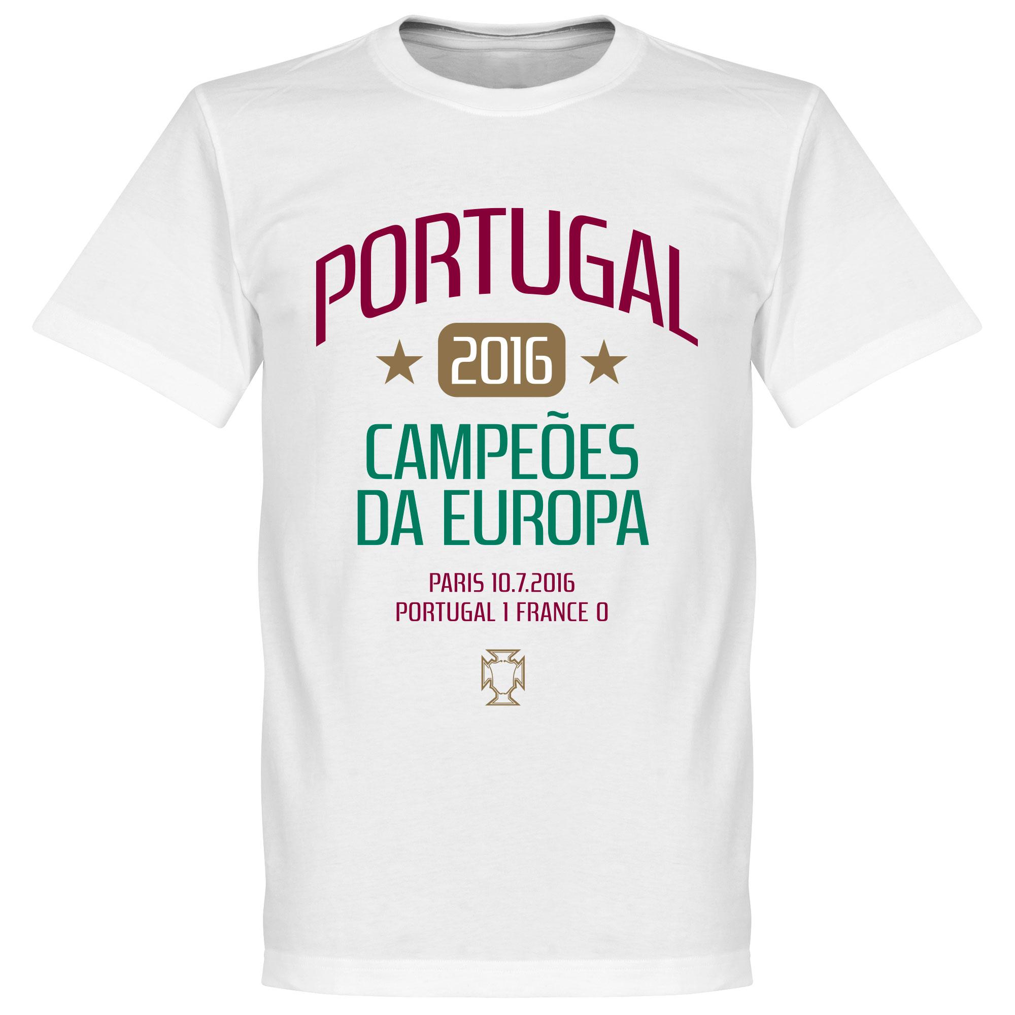 Portugal European Champions 2016 Tee - White - XXL