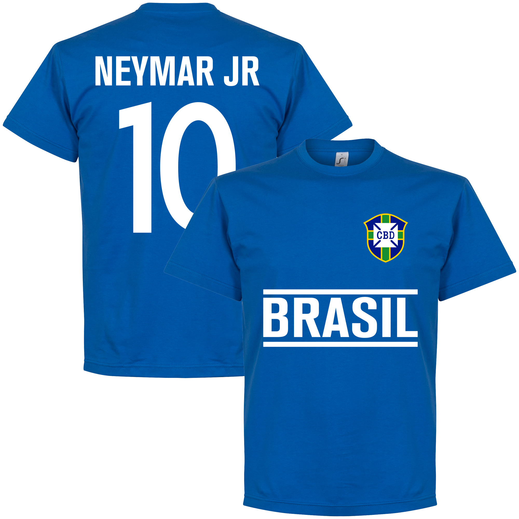 Brasil Neymar Jr Team Tee - Royal - M