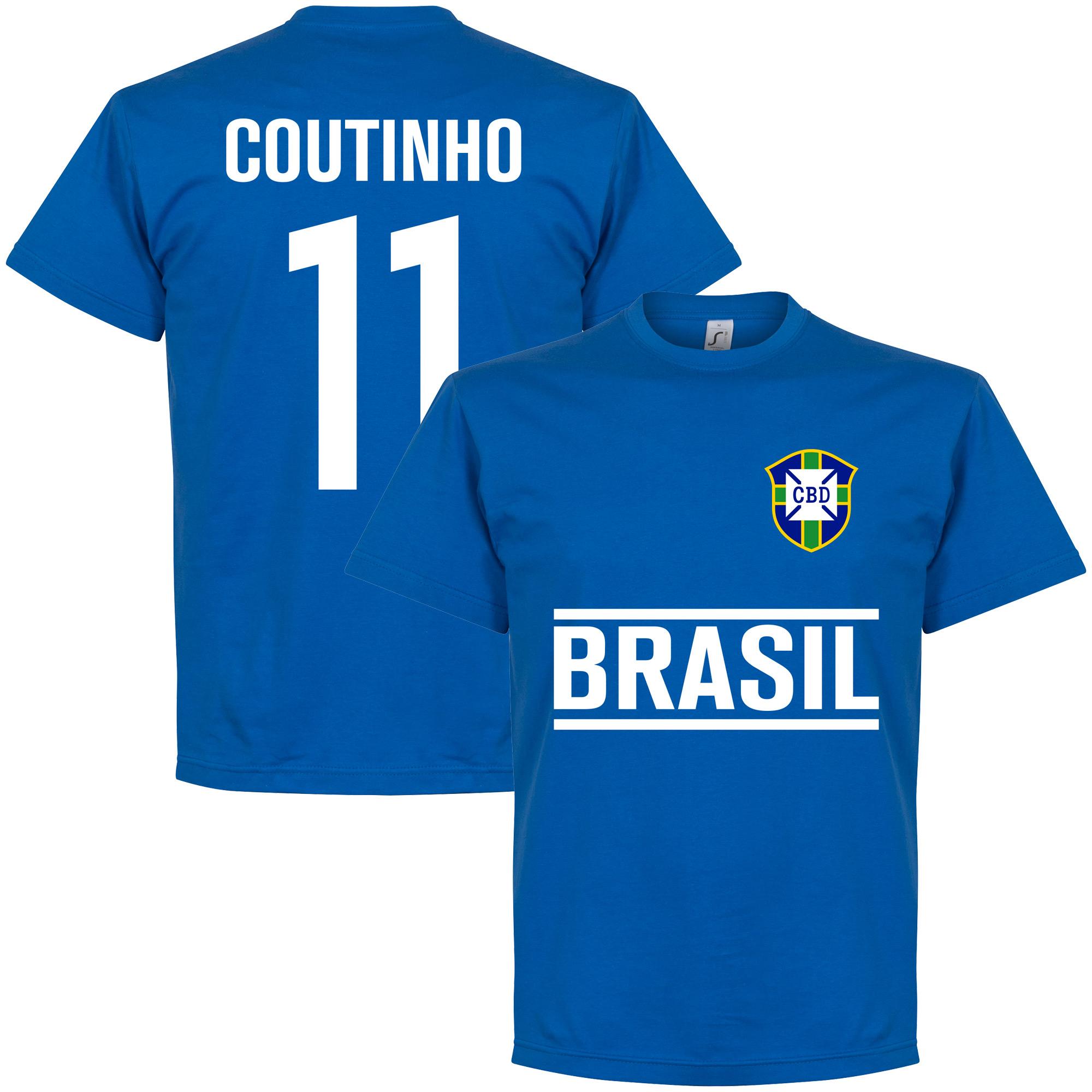 Brasil Coutinho Team Tee - Royal - XXL