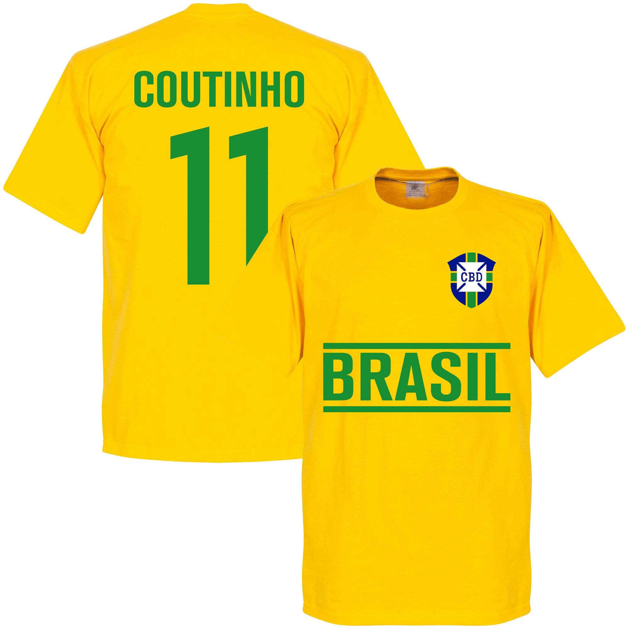 Brasil Coutinho Team Tee - Yellow - XL
