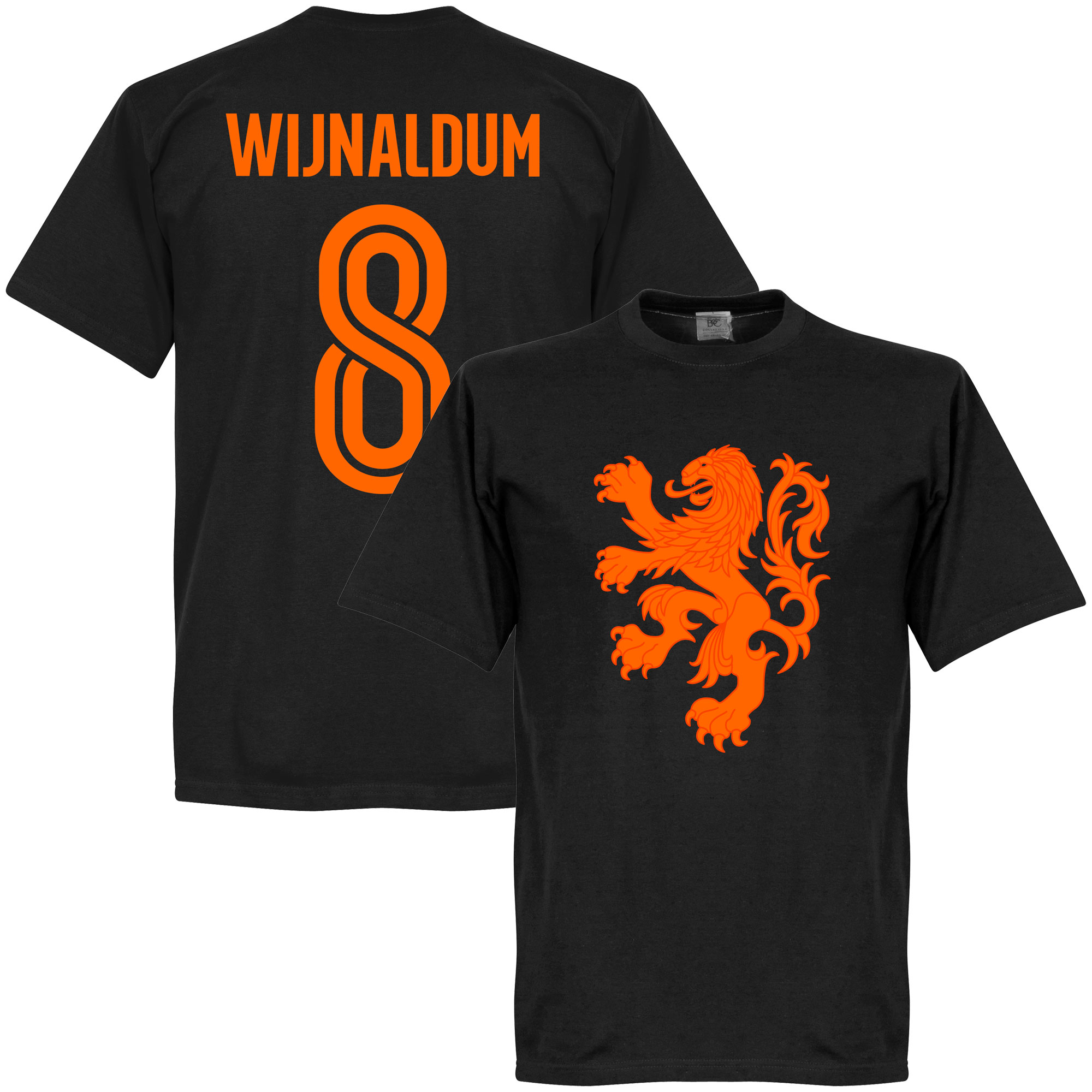 Holland Wijnaldum Lion Tee - Black - M