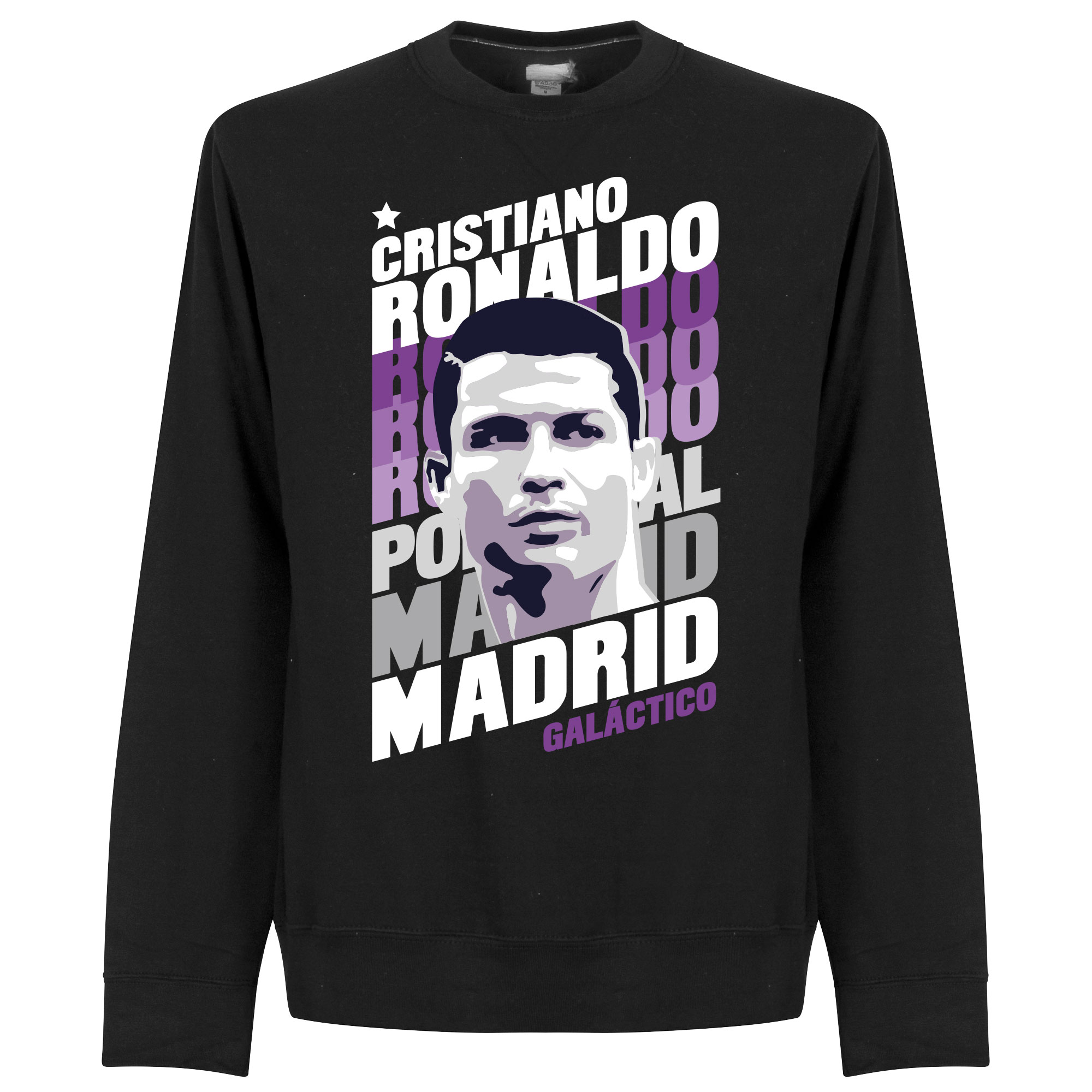 Ronaldo Madrid Portrait Sweatshirt - Black - XL