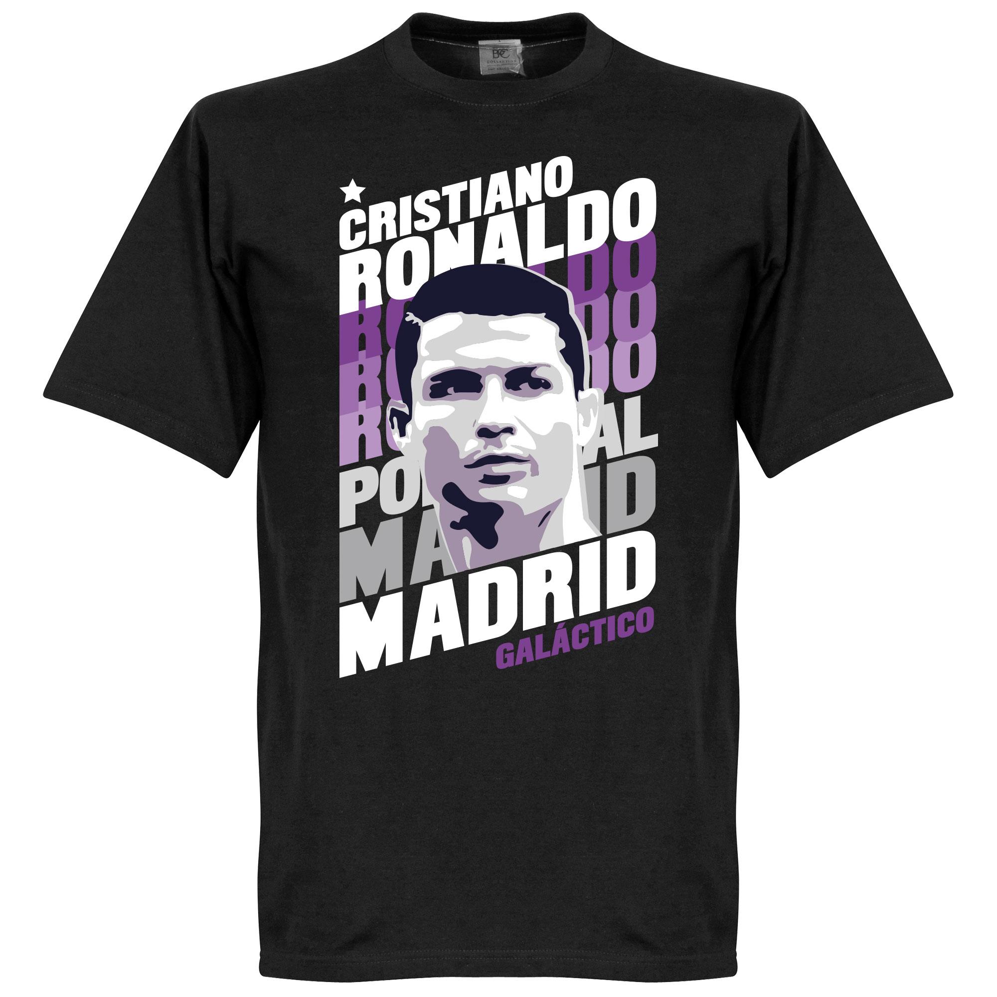 Ronaldo Madrid Portrait KIDS Tee - Black - 6