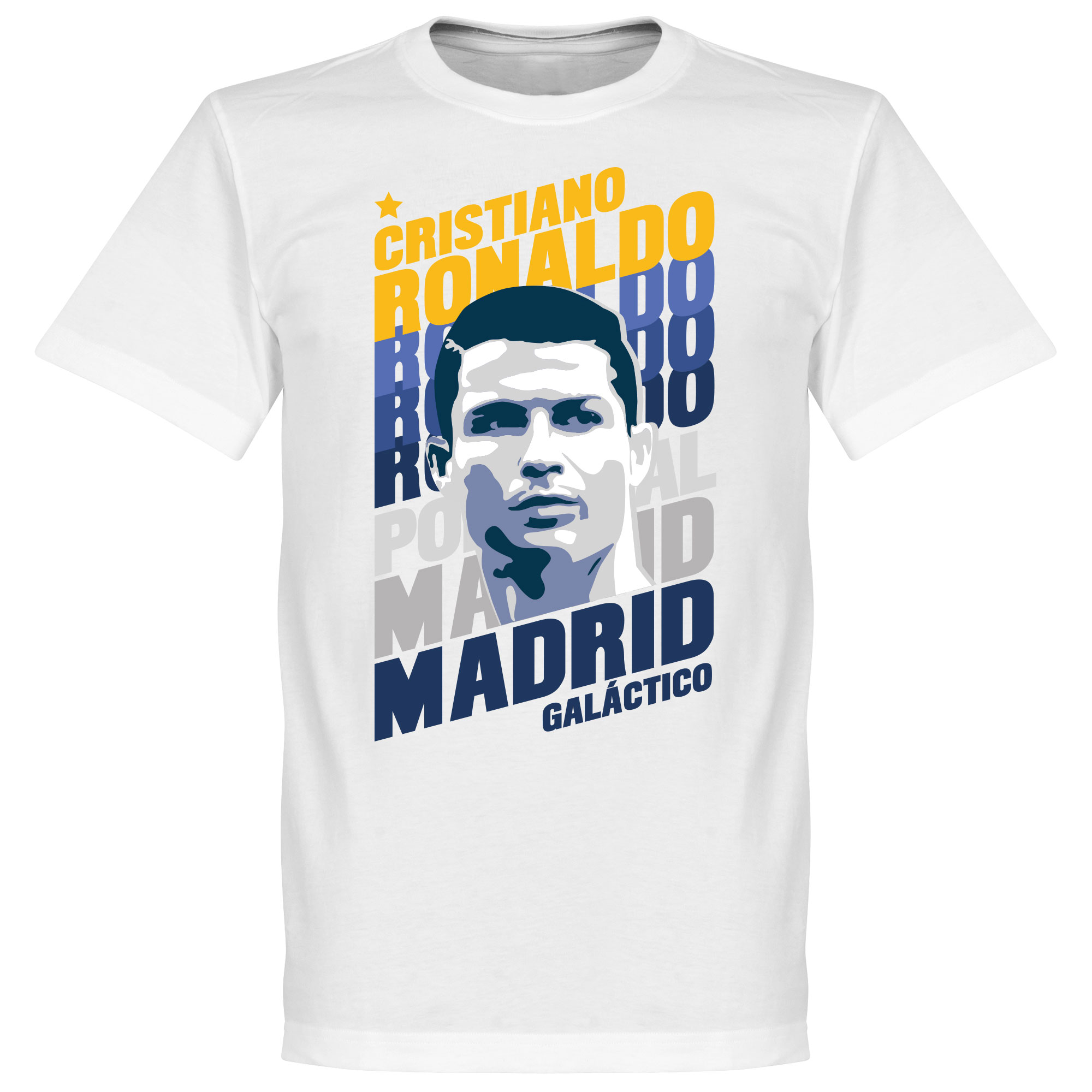 Ronaldo Madrid Portrait KIDS Tee - White - 10
