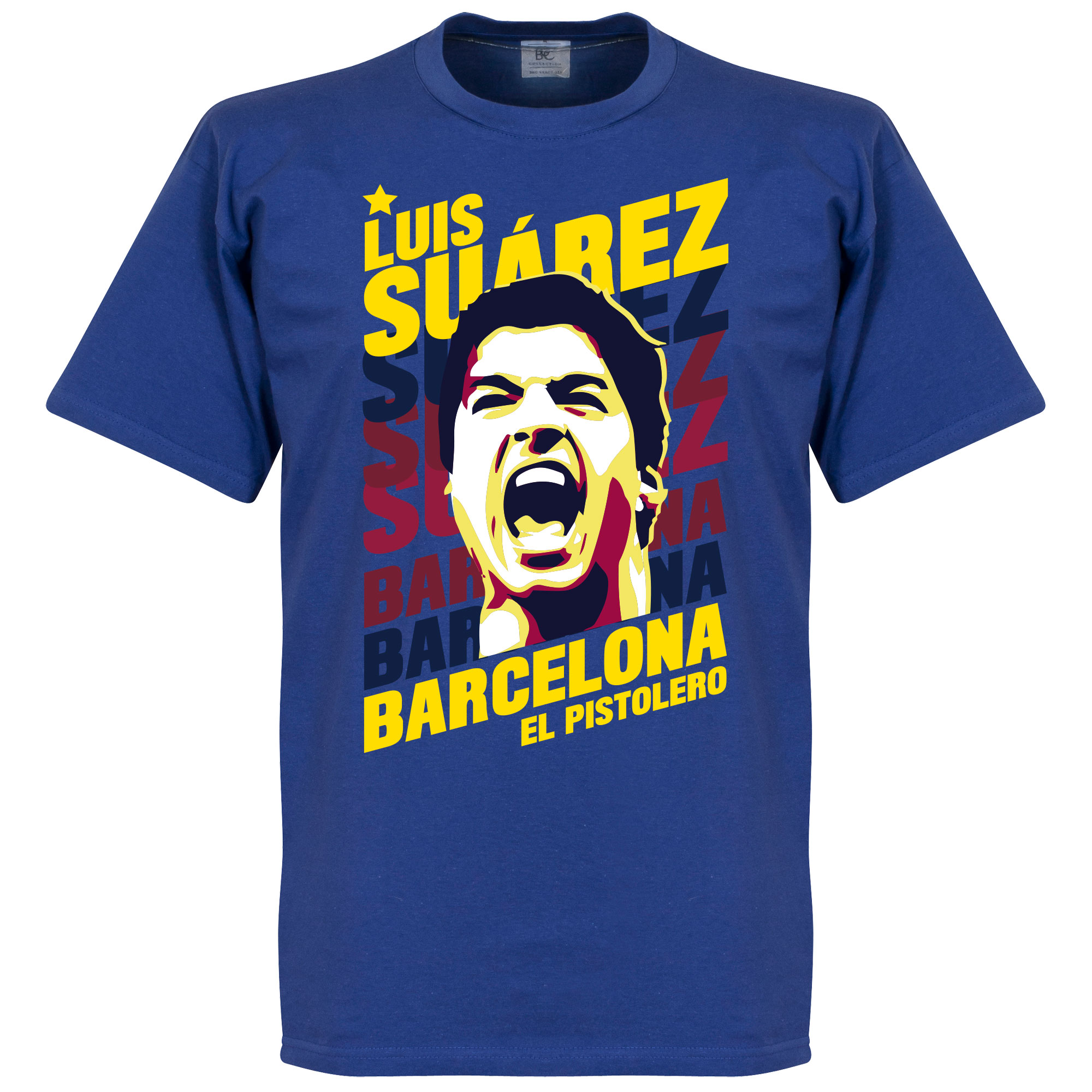 Luis Suarez Barcelona Portrait Tee - Royal - M