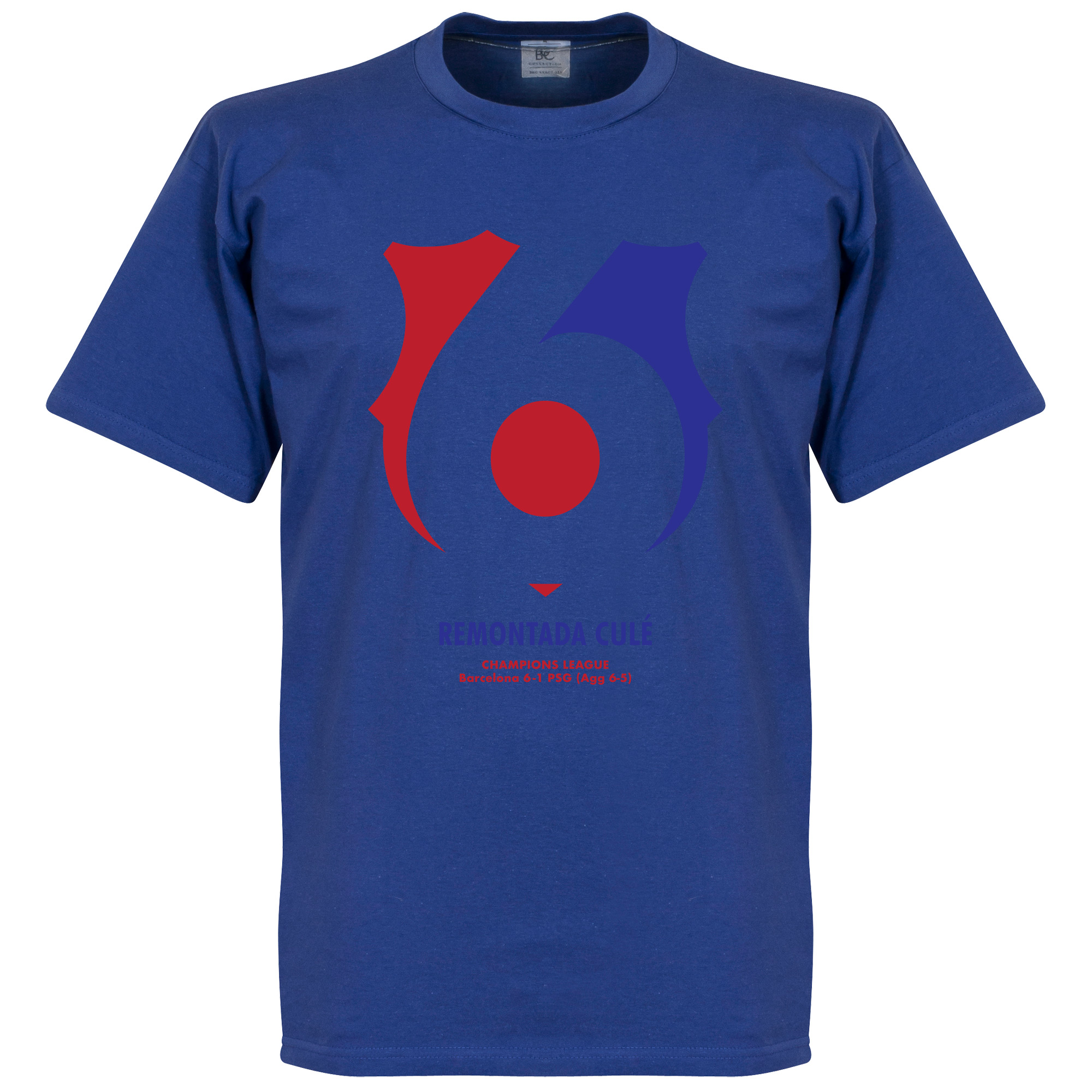 Barcelona 6 PSG 1 Commemorative Tee - Royal - S