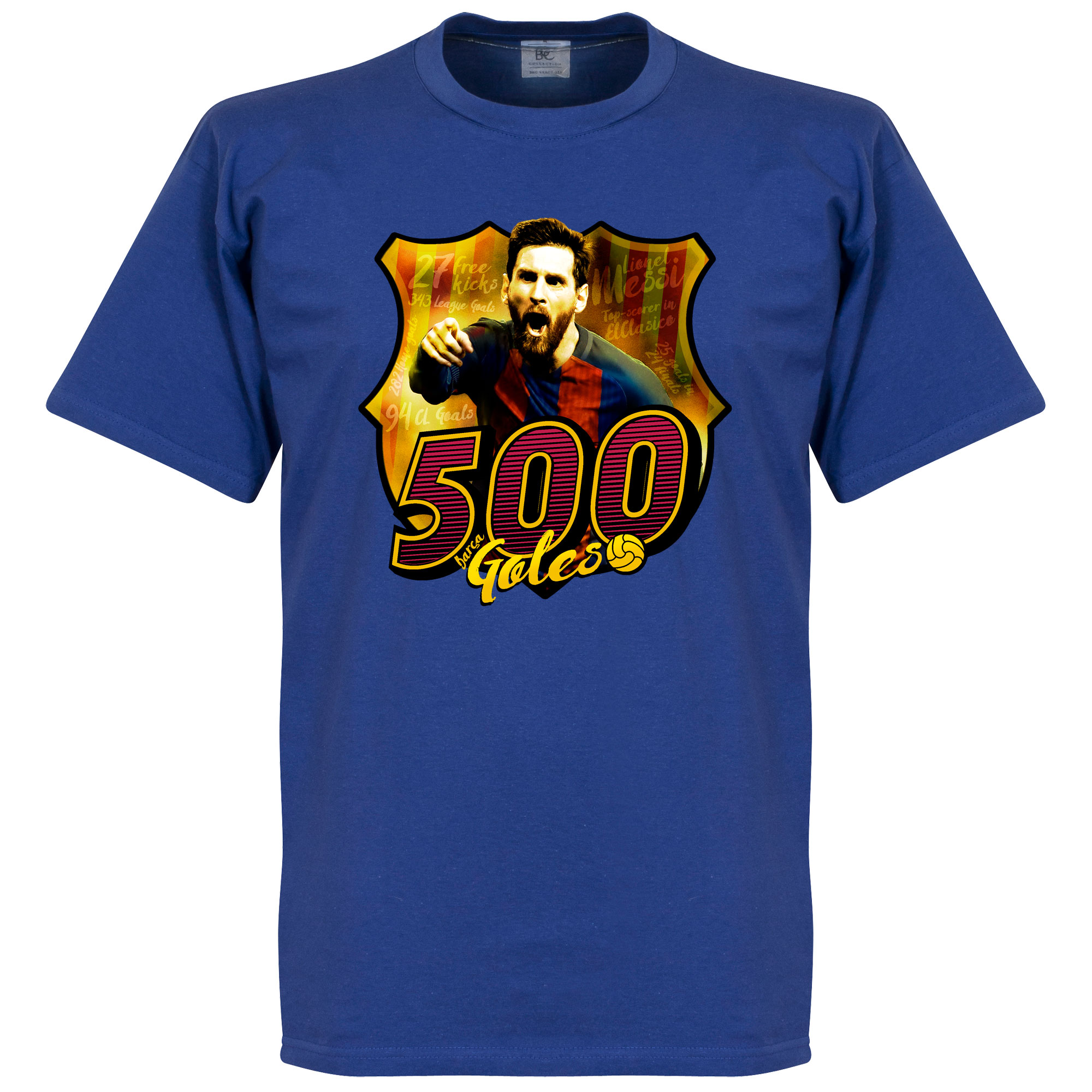 Messi 500 Club Goals Tee - Blue - L