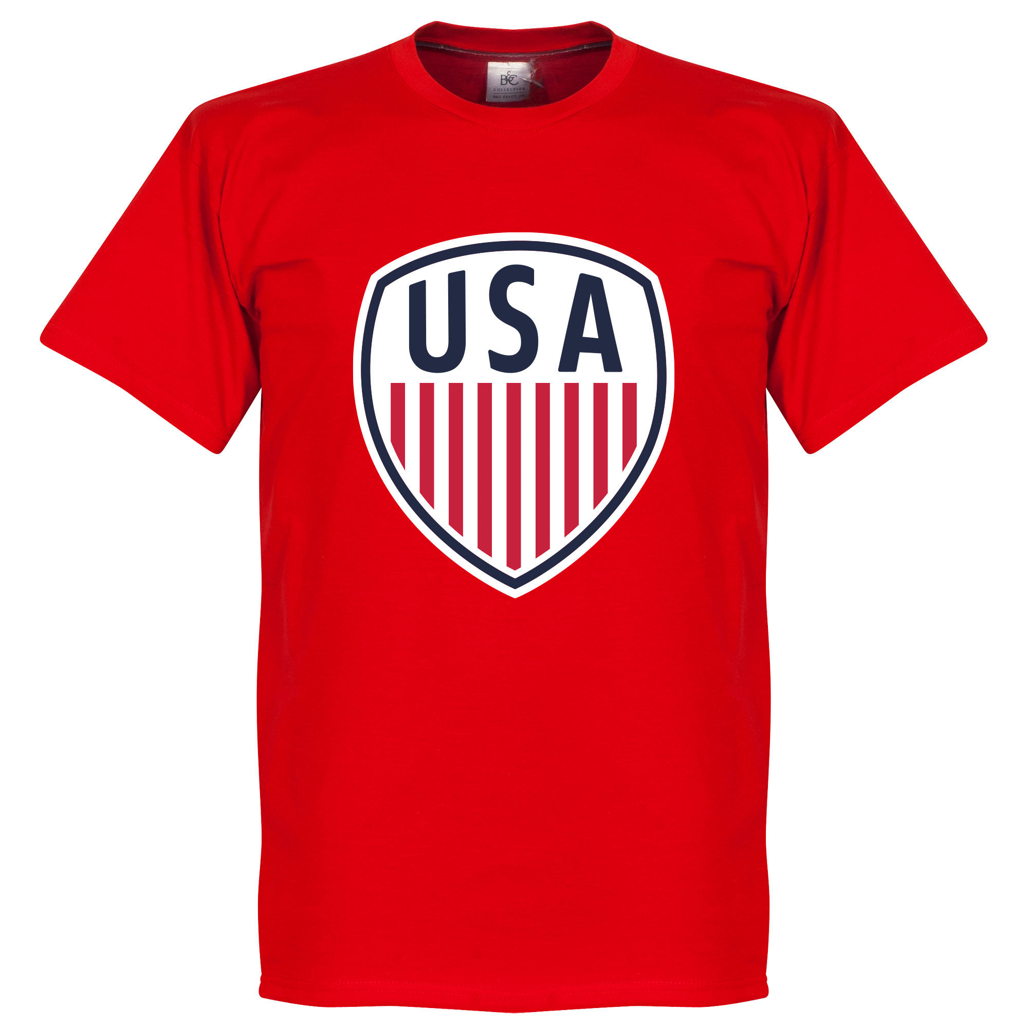 USA Crest Tee - Red - XS