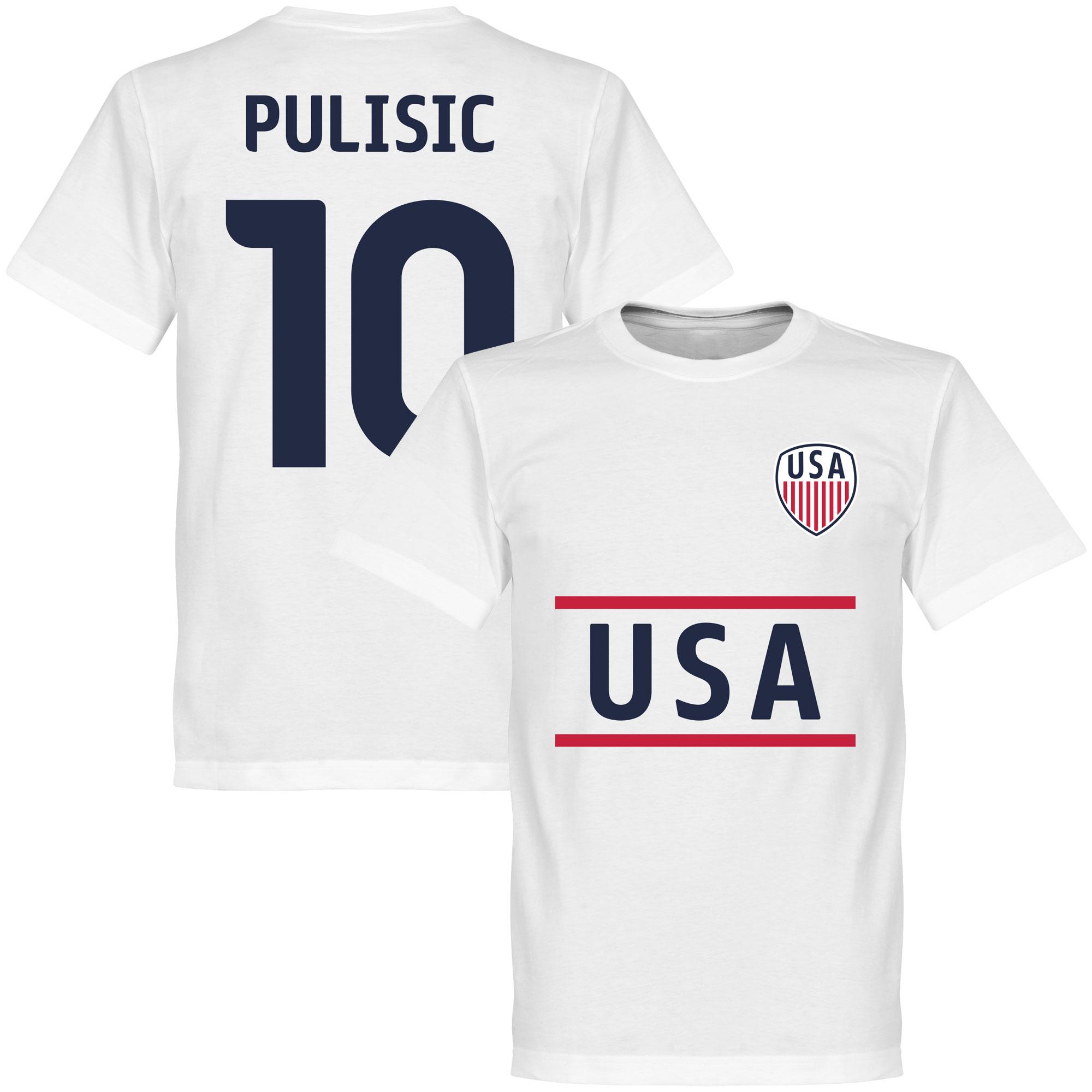 USA Pulisic Team Tee - White - XXXXXL