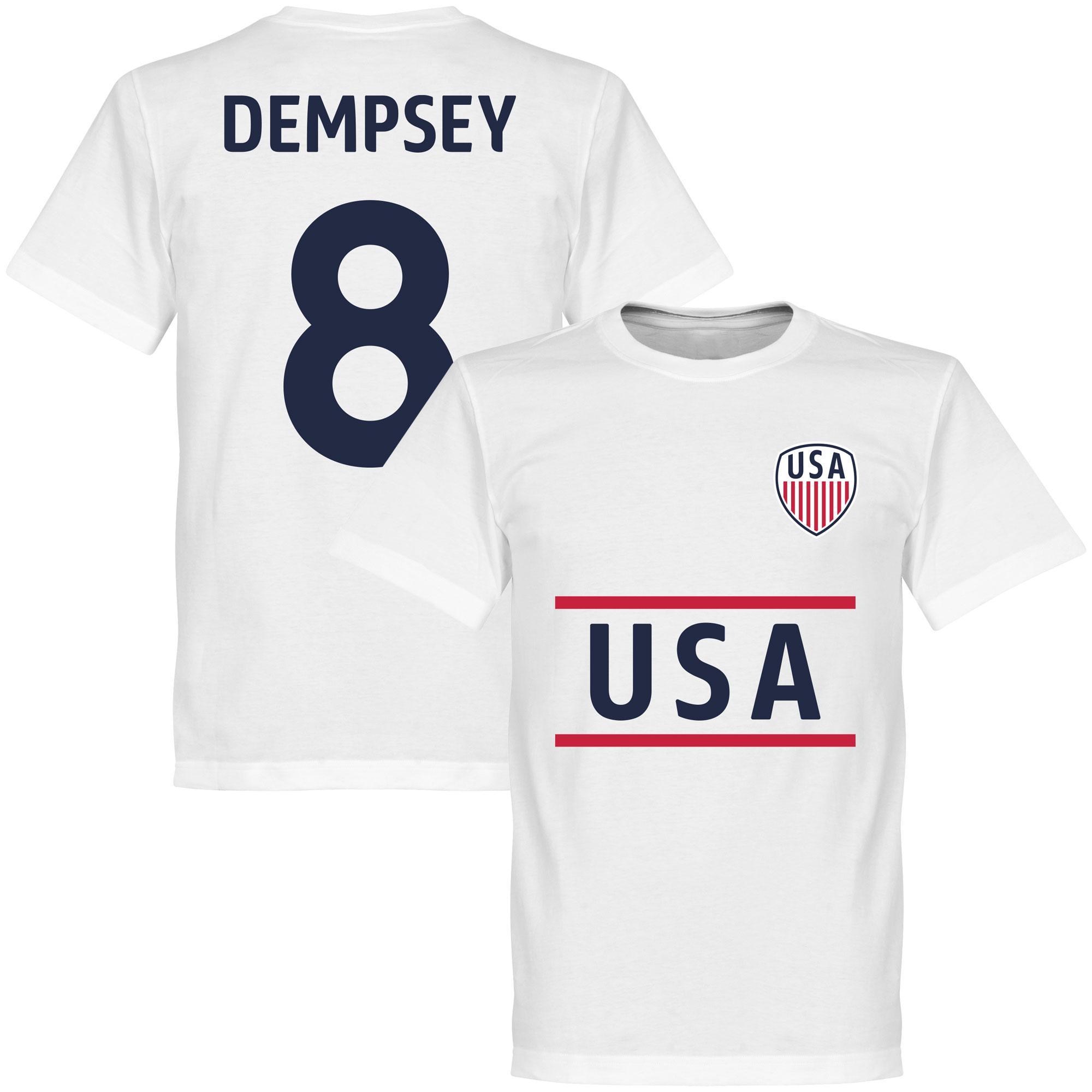 USA Dempsey 8 Team Tee - White - XXXXXL