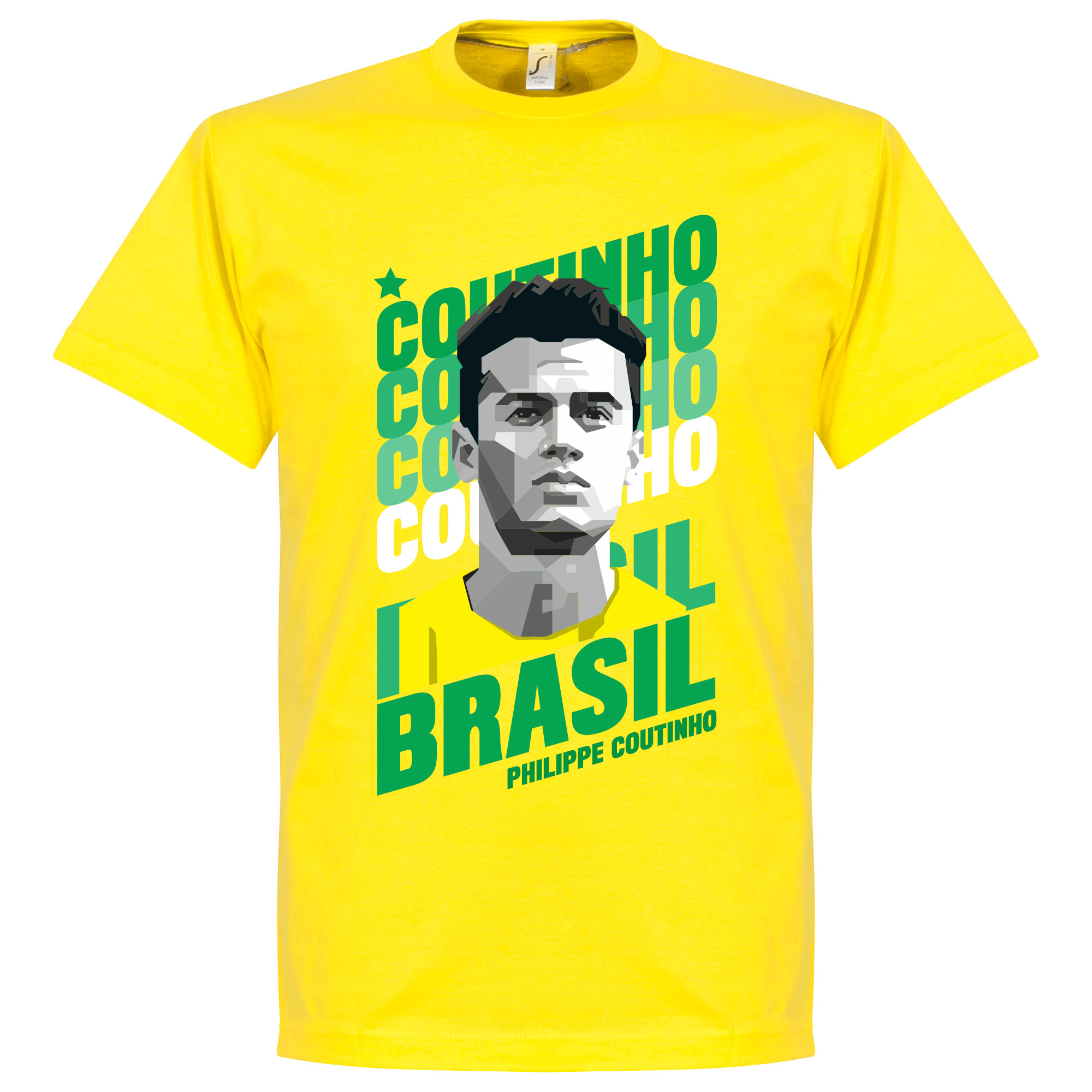 Coutinho Brazil Portrait Tee - Yellow - XL