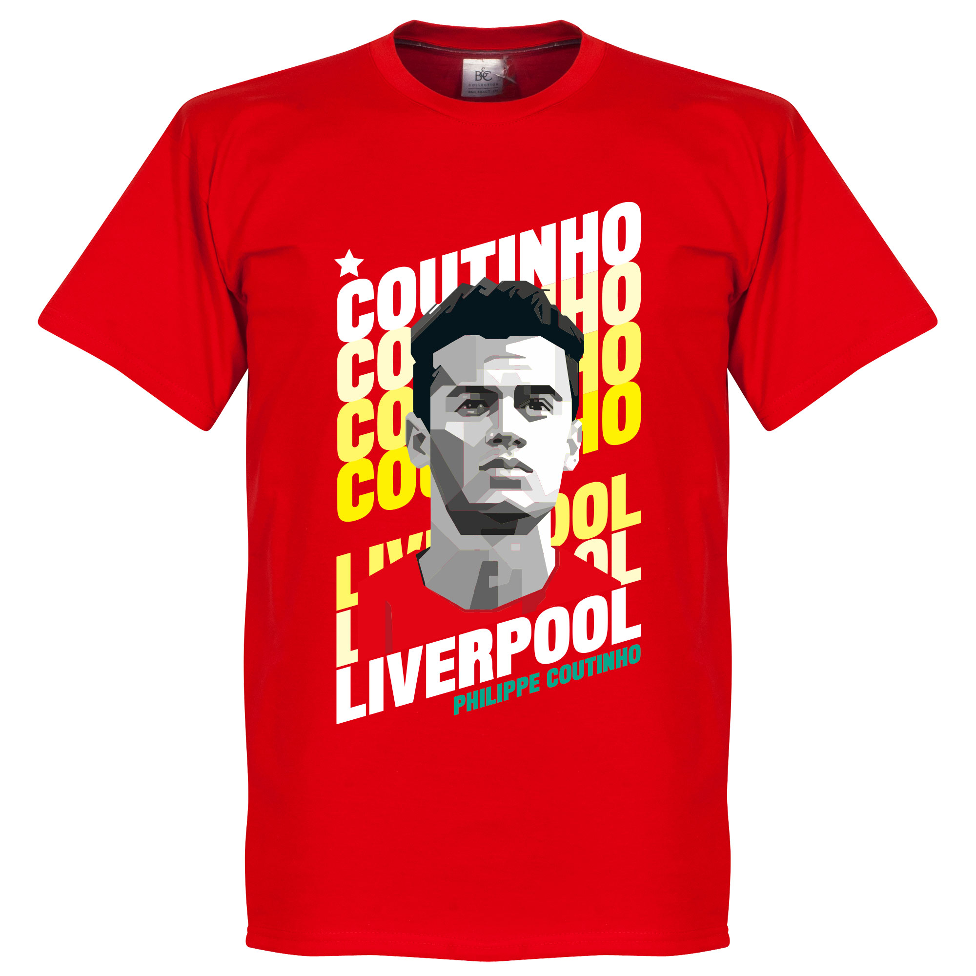 Coutinho Liverpool Portrait Tee - Red - M