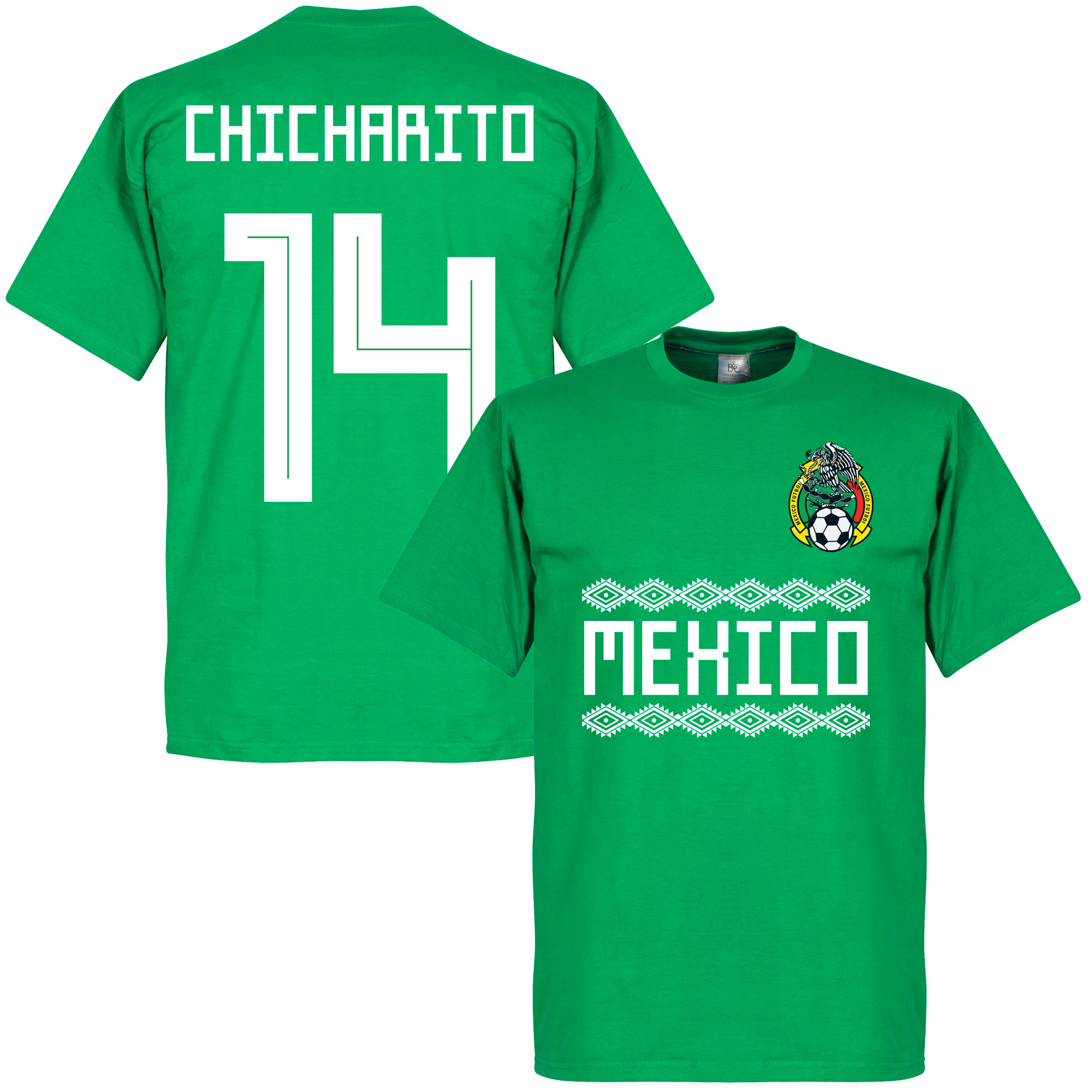 Mexico Chicharito 14 Team Tee - Green - S