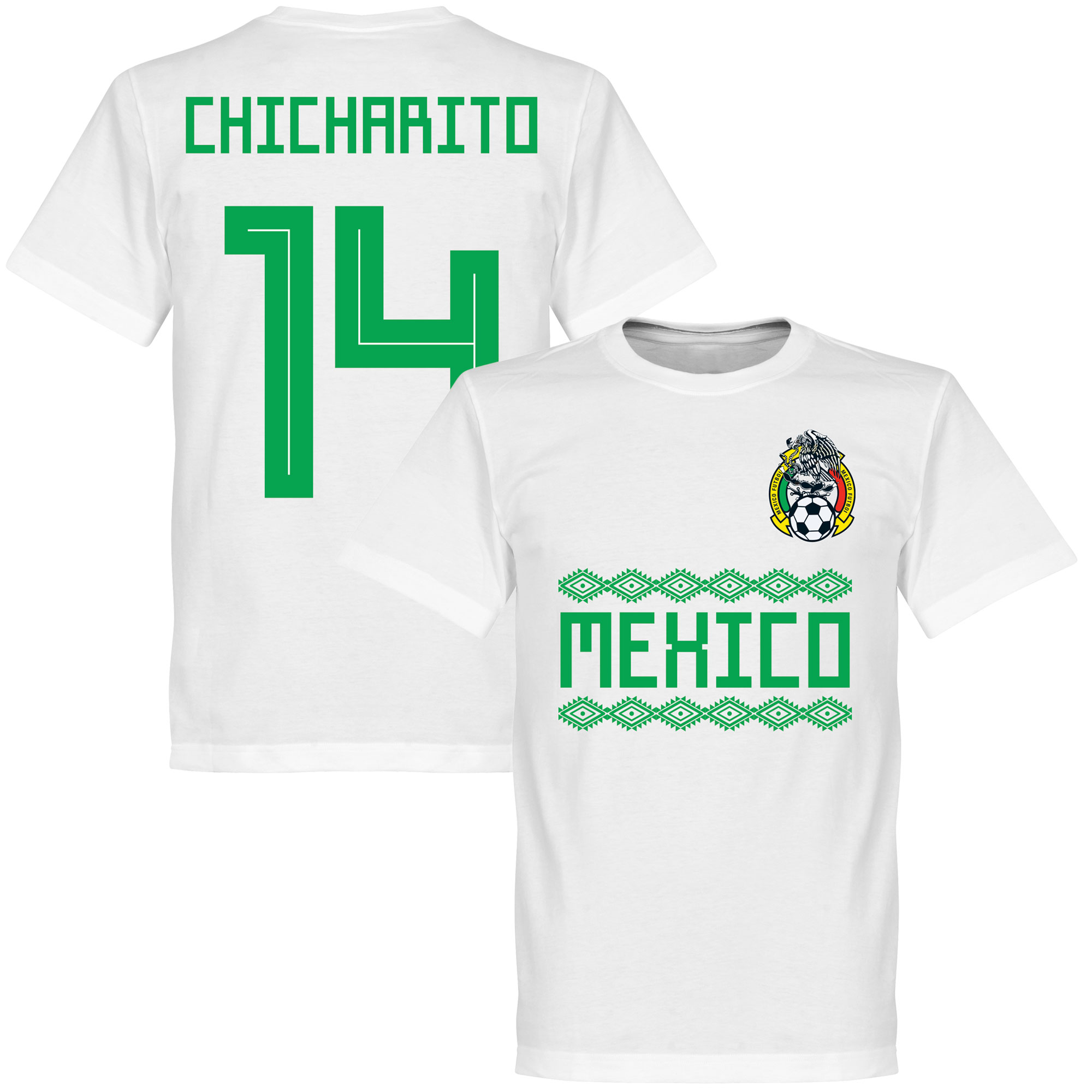 Mexico Chicharito 14 Team Tee - White - XL