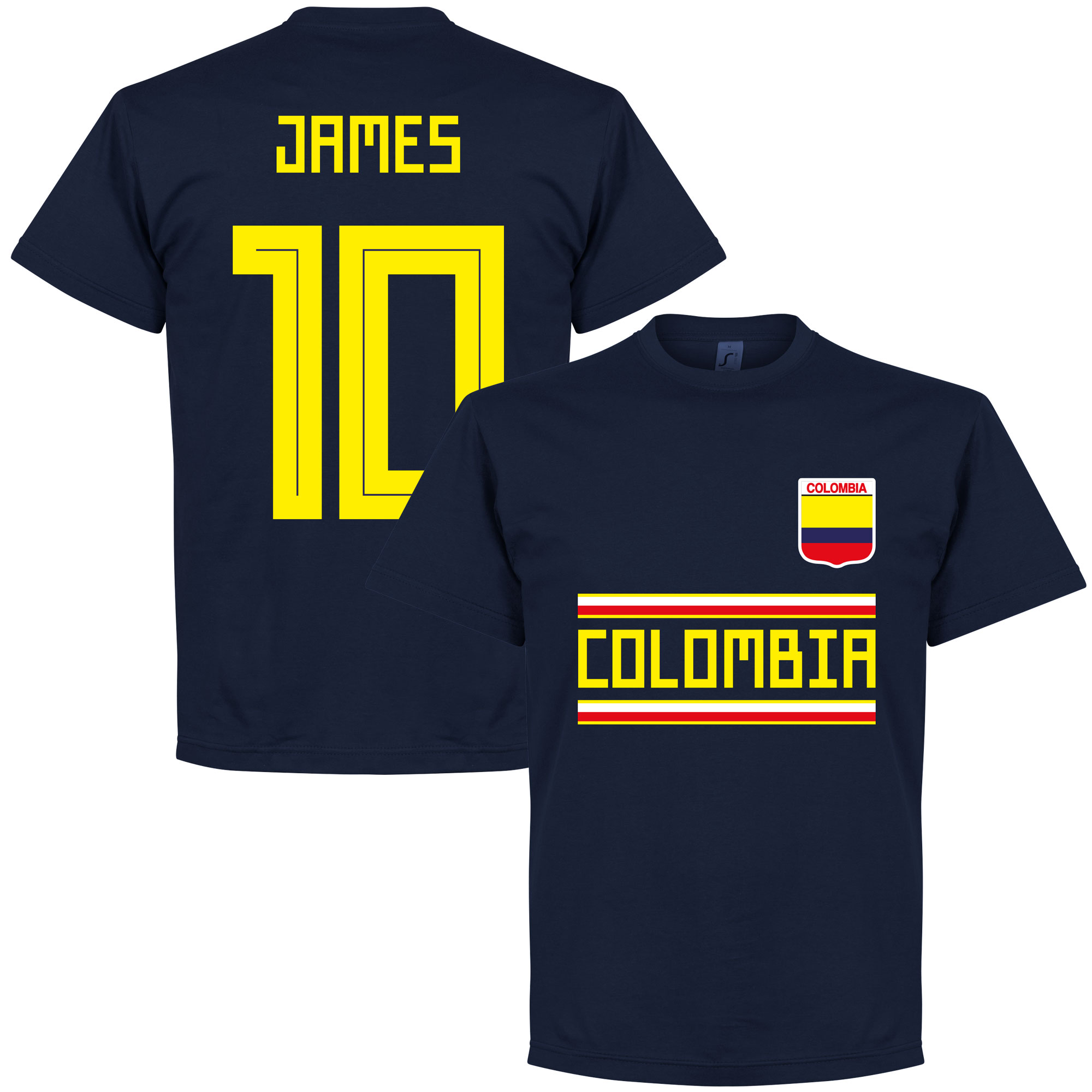 Colombia James 10 Team Tee - Navy - S