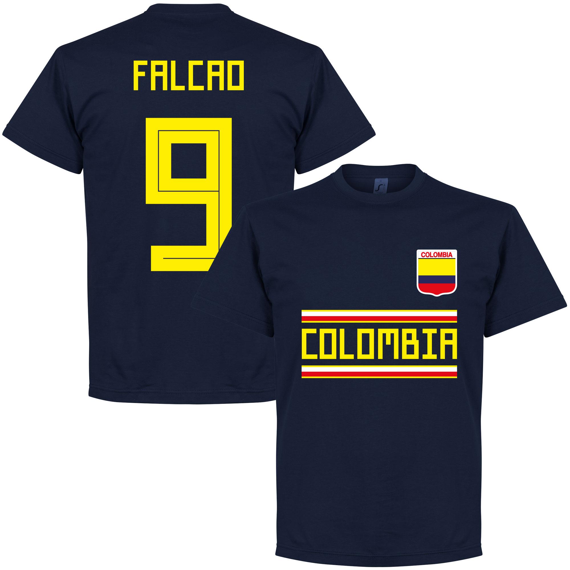 Colombia Falcao 9 Team Tee - Navy - S