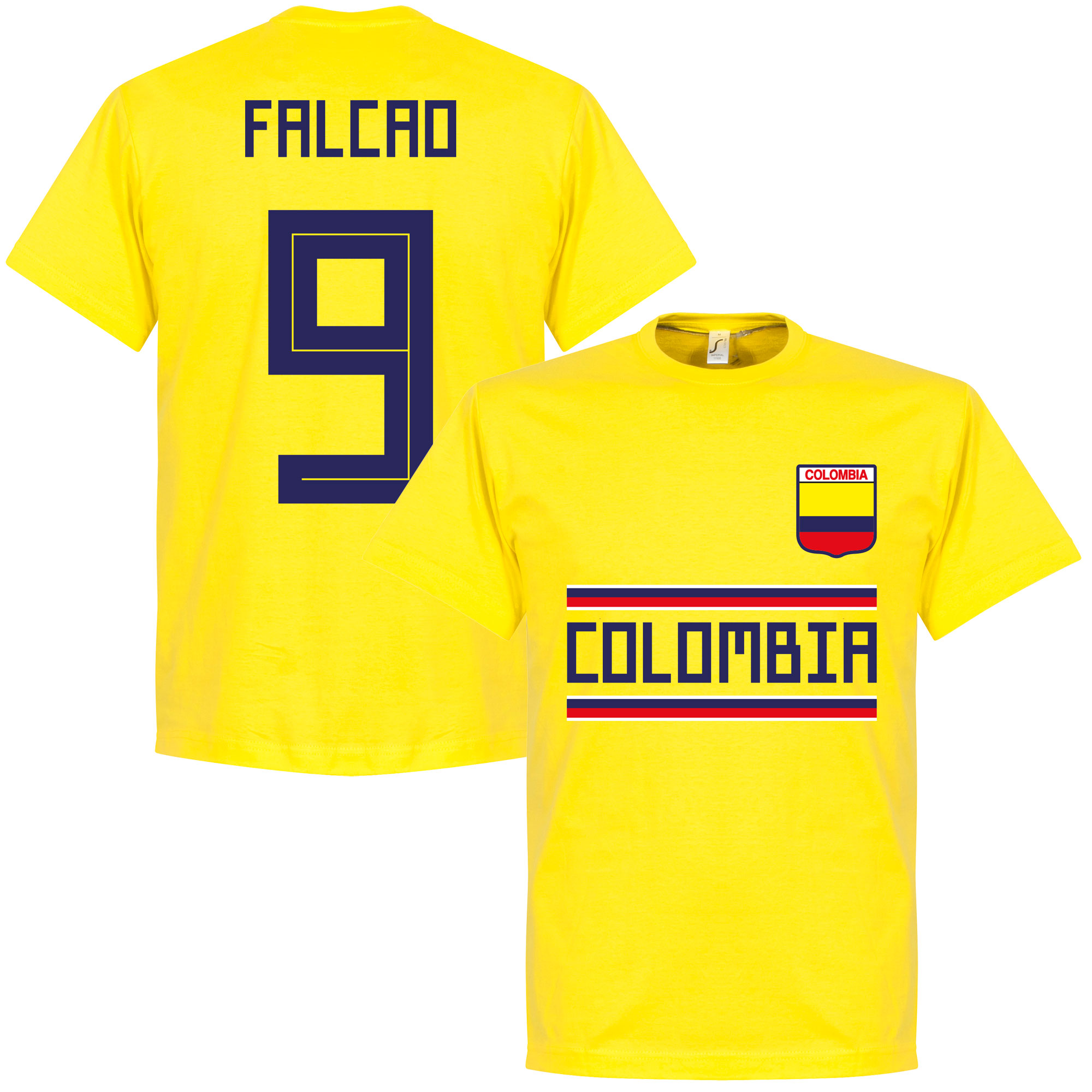 Colombia Falcao 9 Team Tee - Yellow - S