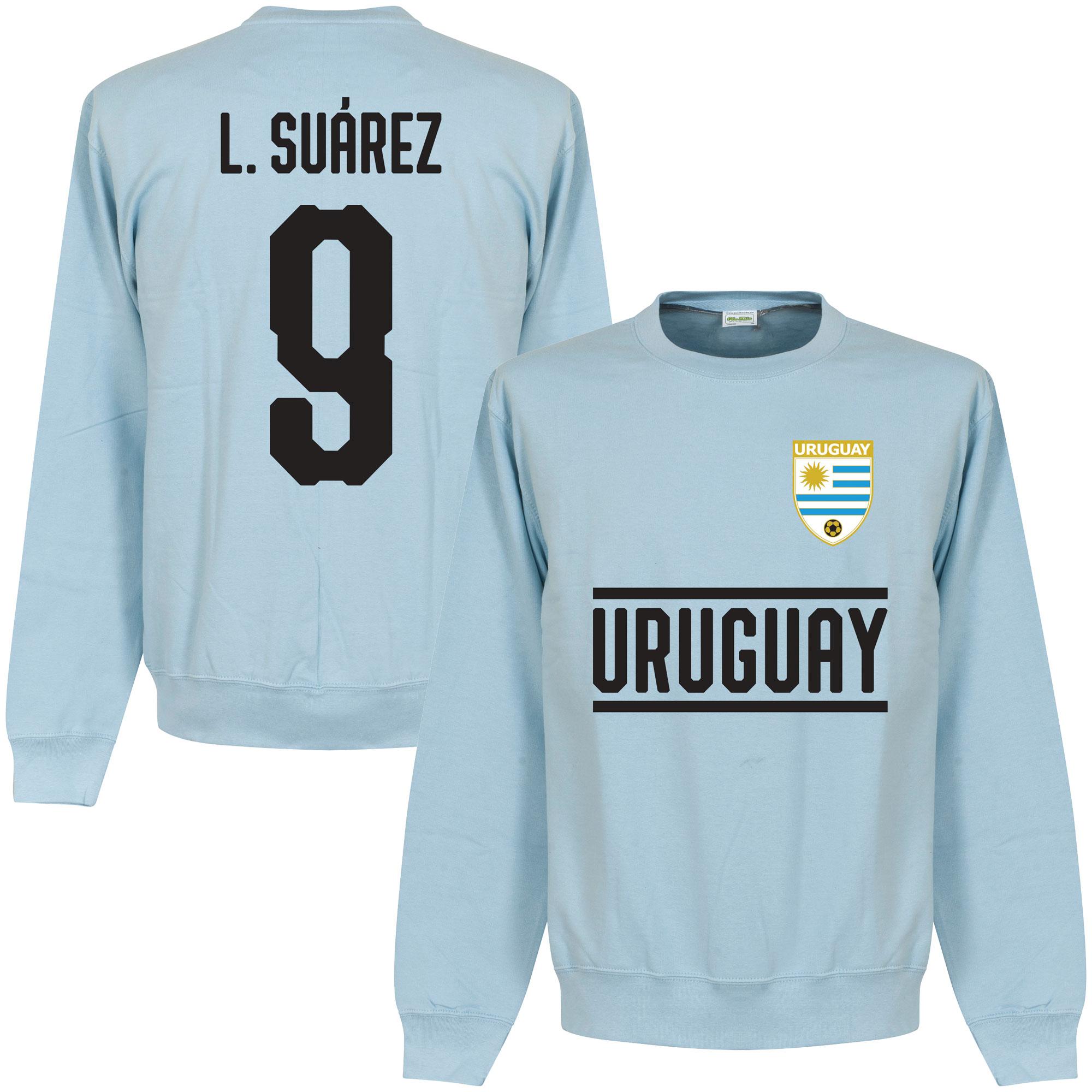 Uruguay Suarez 9 Team Sweater - Licht Blauw