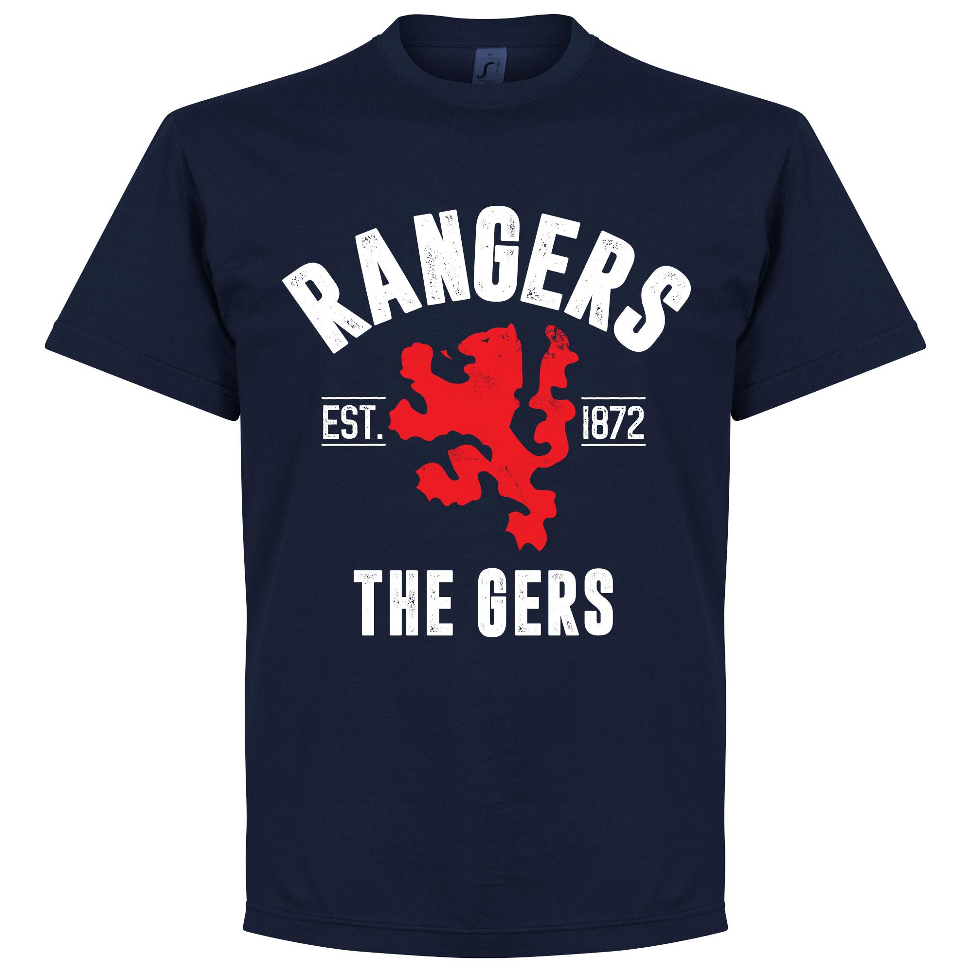 Rangers Established T-Shirt - Navy